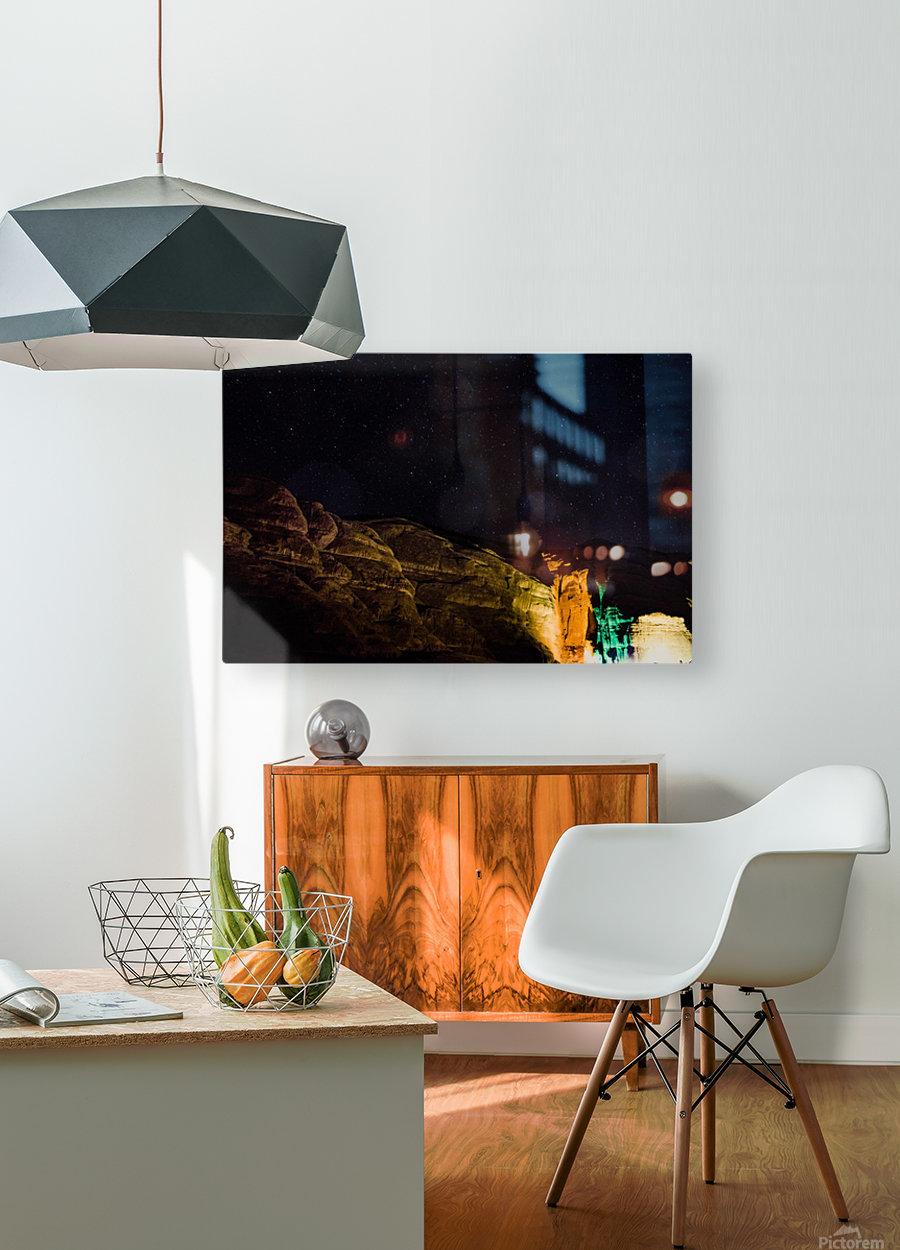 Starry Night - Al-Ula Monuments Saudi Arabia  HD Metal print with Floating Frame on Back