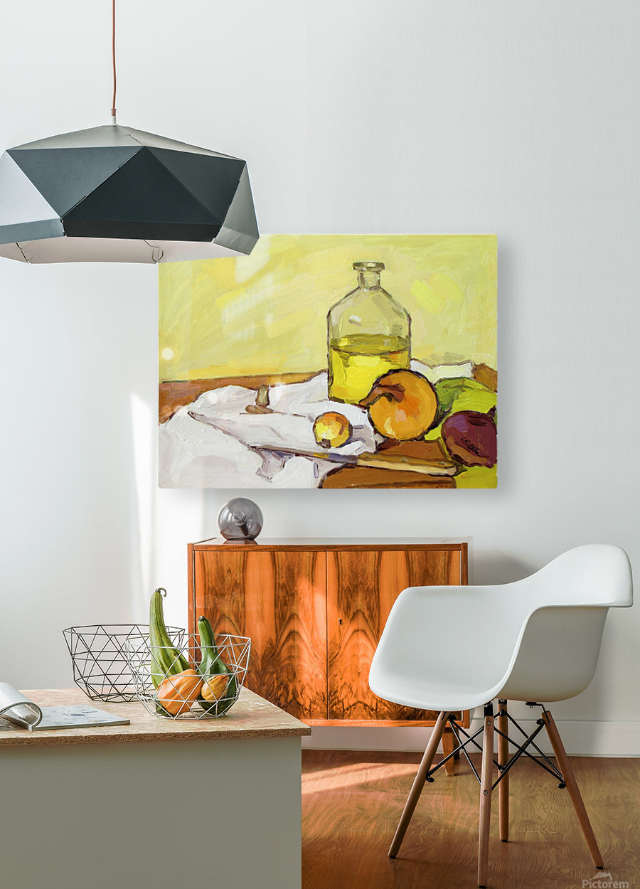 Still Life with Onion-2  HD Metal print with Floating Frame on Back