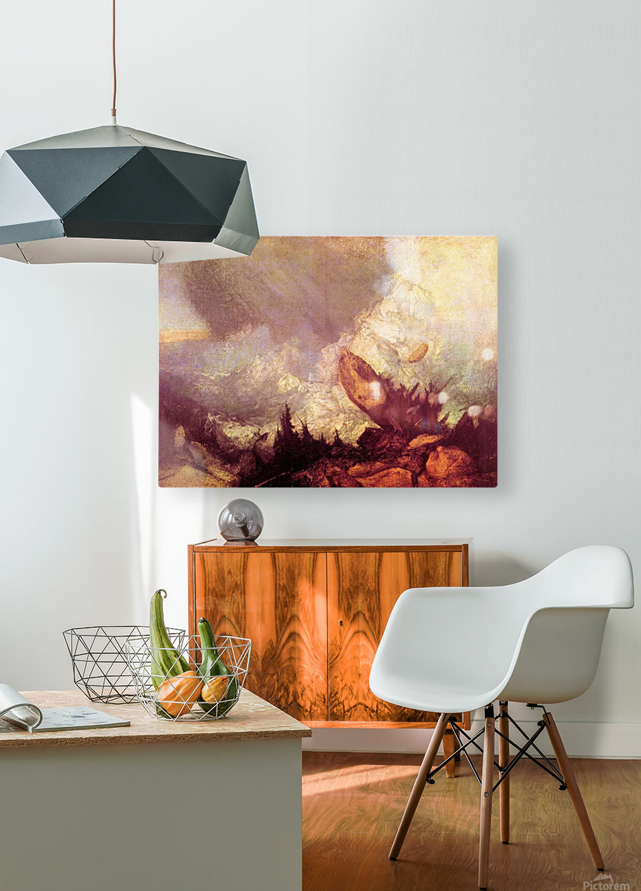 Avalanche by Joseph Mallord Turner  HD Metal print with Floating Frame on Back
