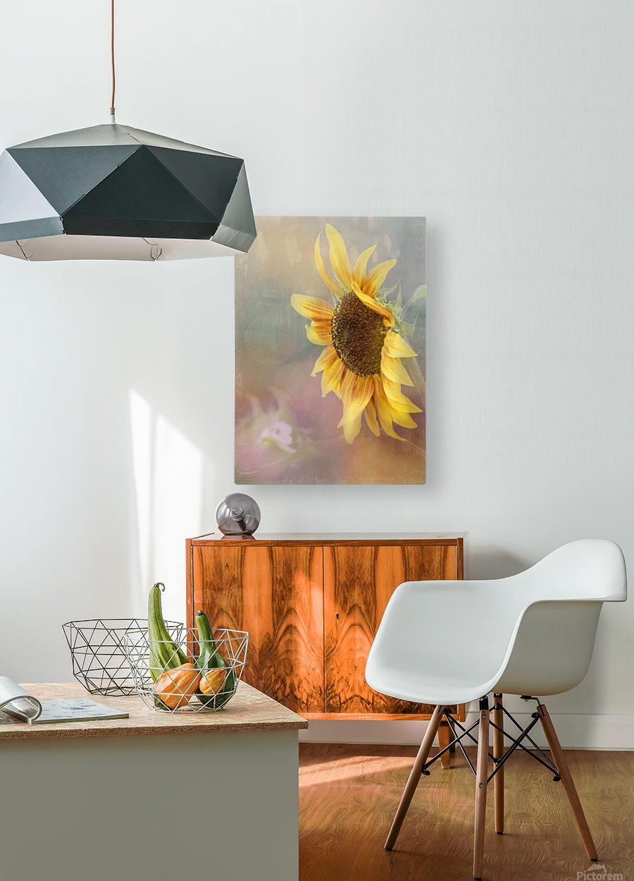 Be The Sunflower - Sunflower Art by Jordan Blackstone  HD Metal print with Floating Frame on Back