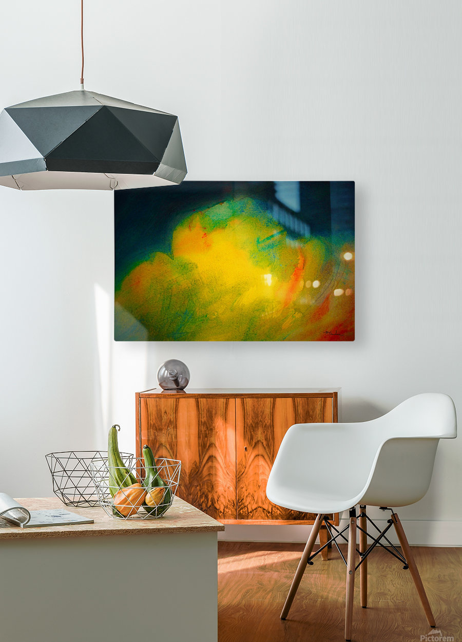 Colorful clouds  HD Metal print with Floating Frame on Back