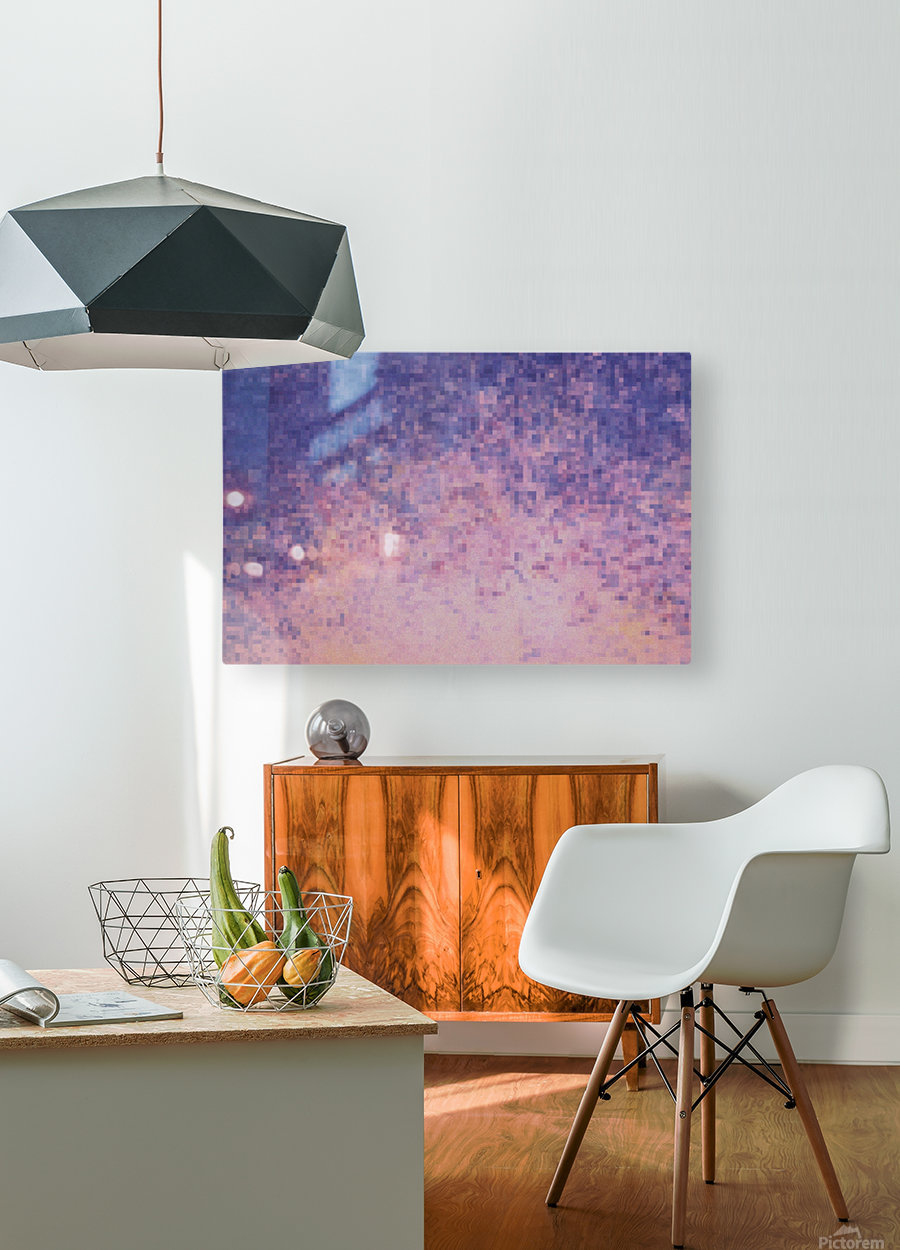 Dream violet  HD Metal print with Floating Frame on Back