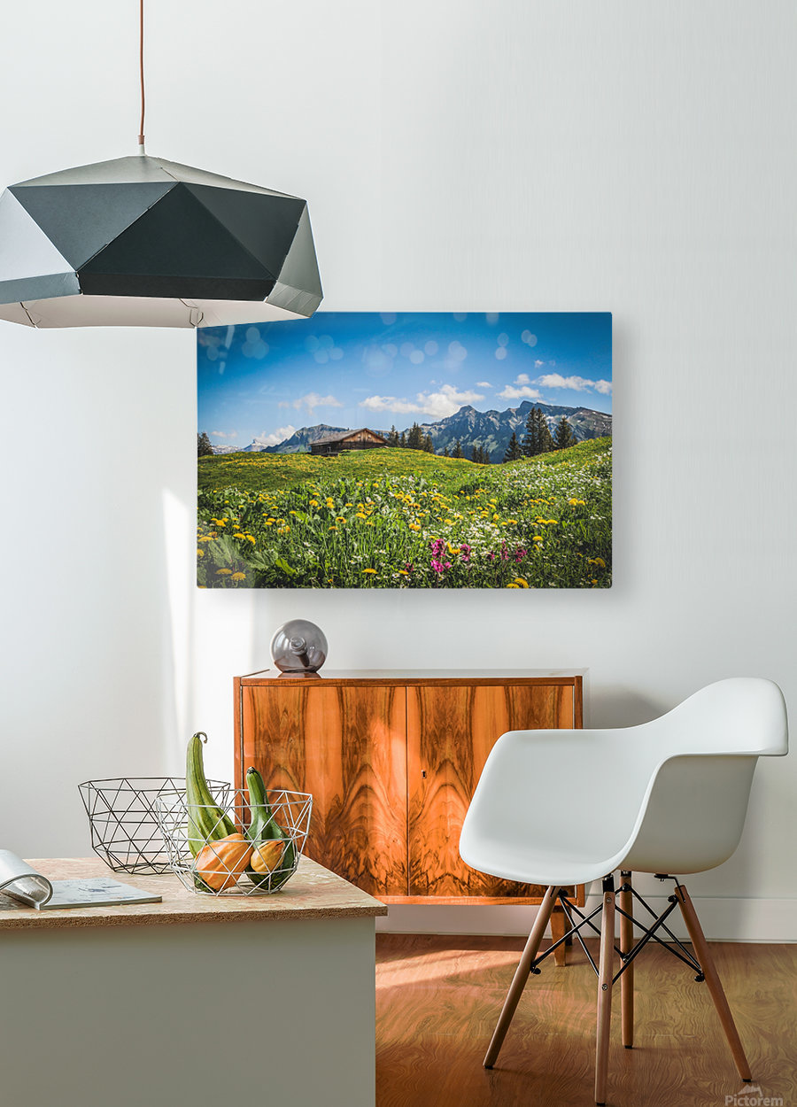 The Hills Are Alive  HD Metal print with Floating Frame on Back
