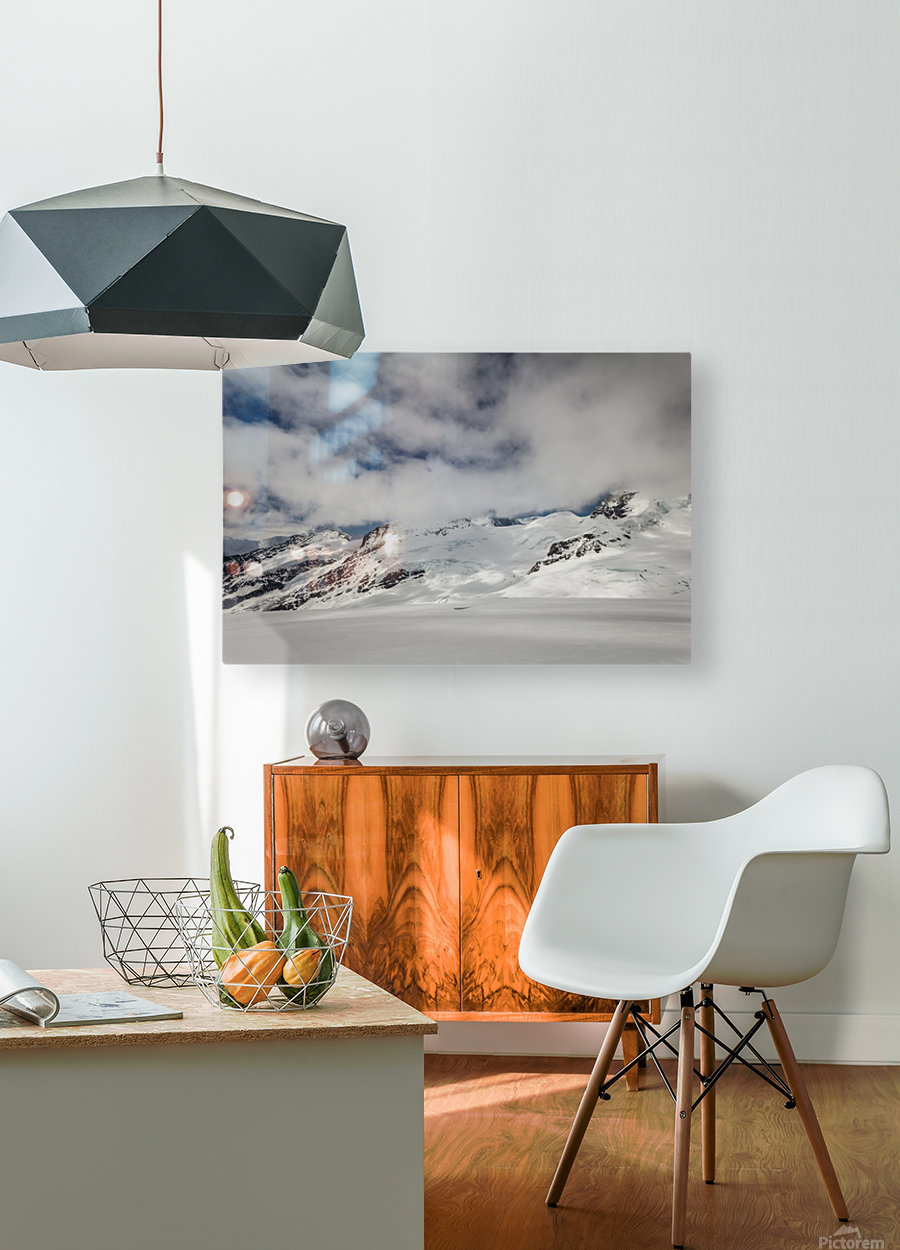 Clouds Crashing  HD Metal print with Floating Frame on Back