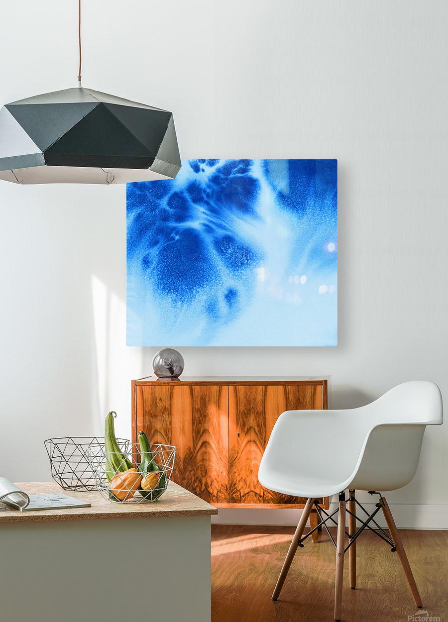 Afternoon Clouds  Impression métal HD avec cadre flottant sur le dos