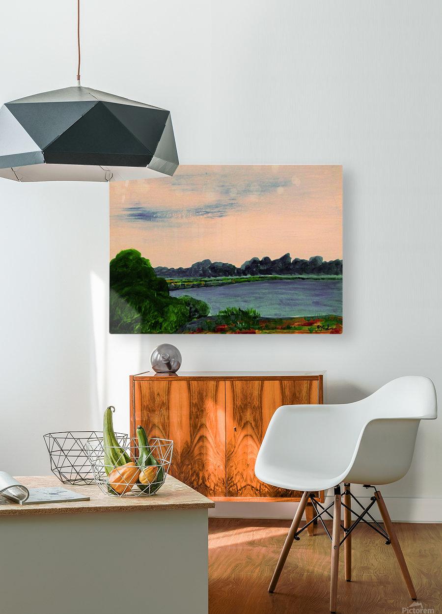 Evening Landscape  HD Metal print with Floating Frame on Back