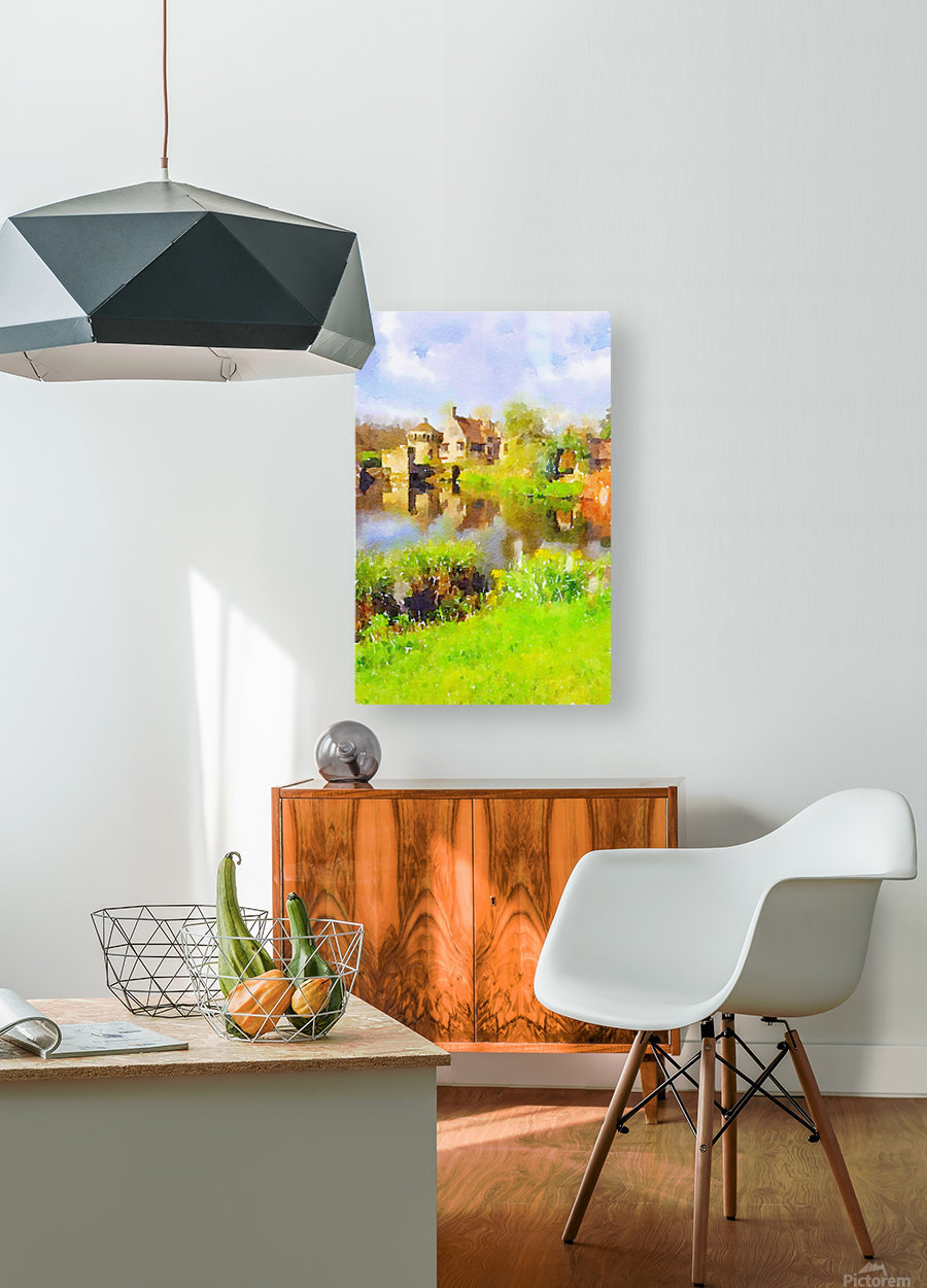 Scotney Castle  HD Metal print with Floating Frame on Back