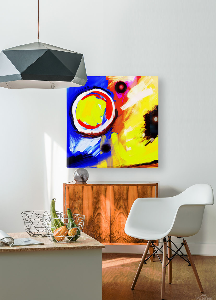 Abstract Mess_OSG   HD Metal print with Floating Frame on Back