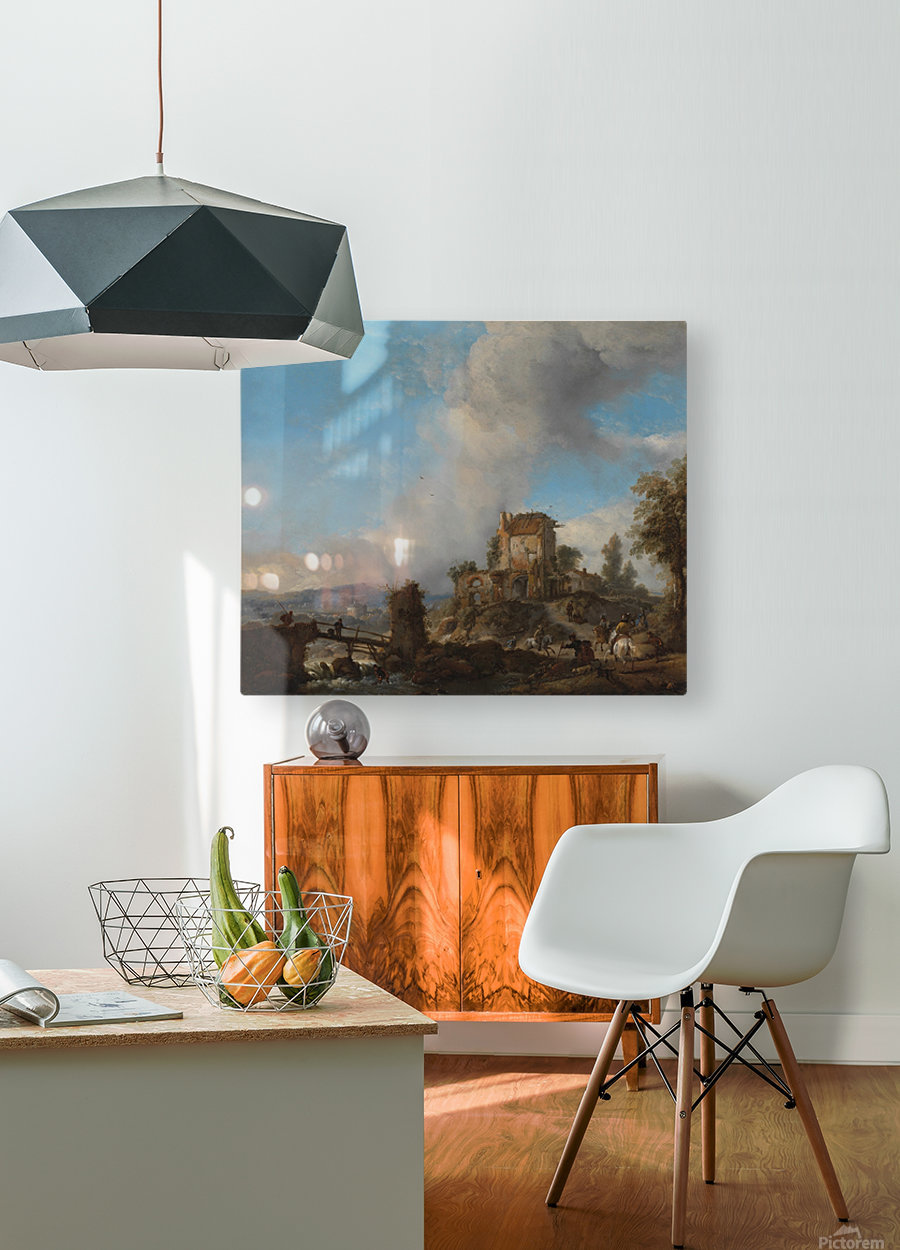 Hertenjacht Rijksmuseum  HD Metal print with Floating Frame on Back
