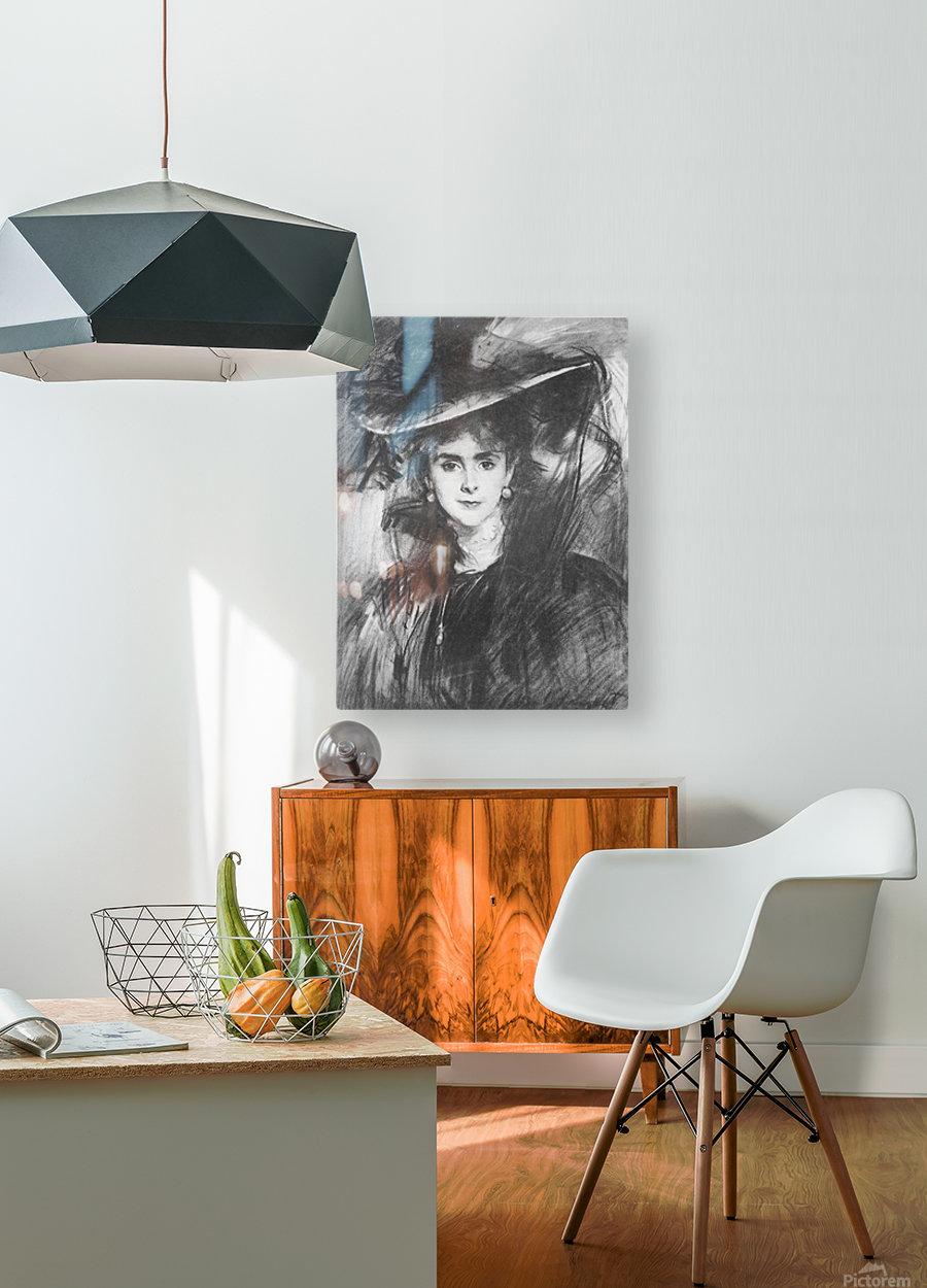Baroness de Meyer by John Singer Sargent  HD Metal print with Floating Frame on Back