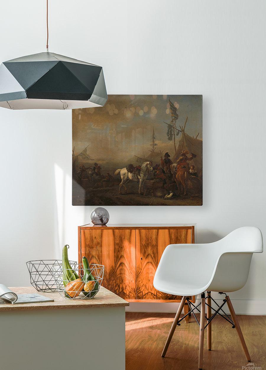 Een legerkamp Rijksmuseum  HD Metal print with Floating Frame on Back