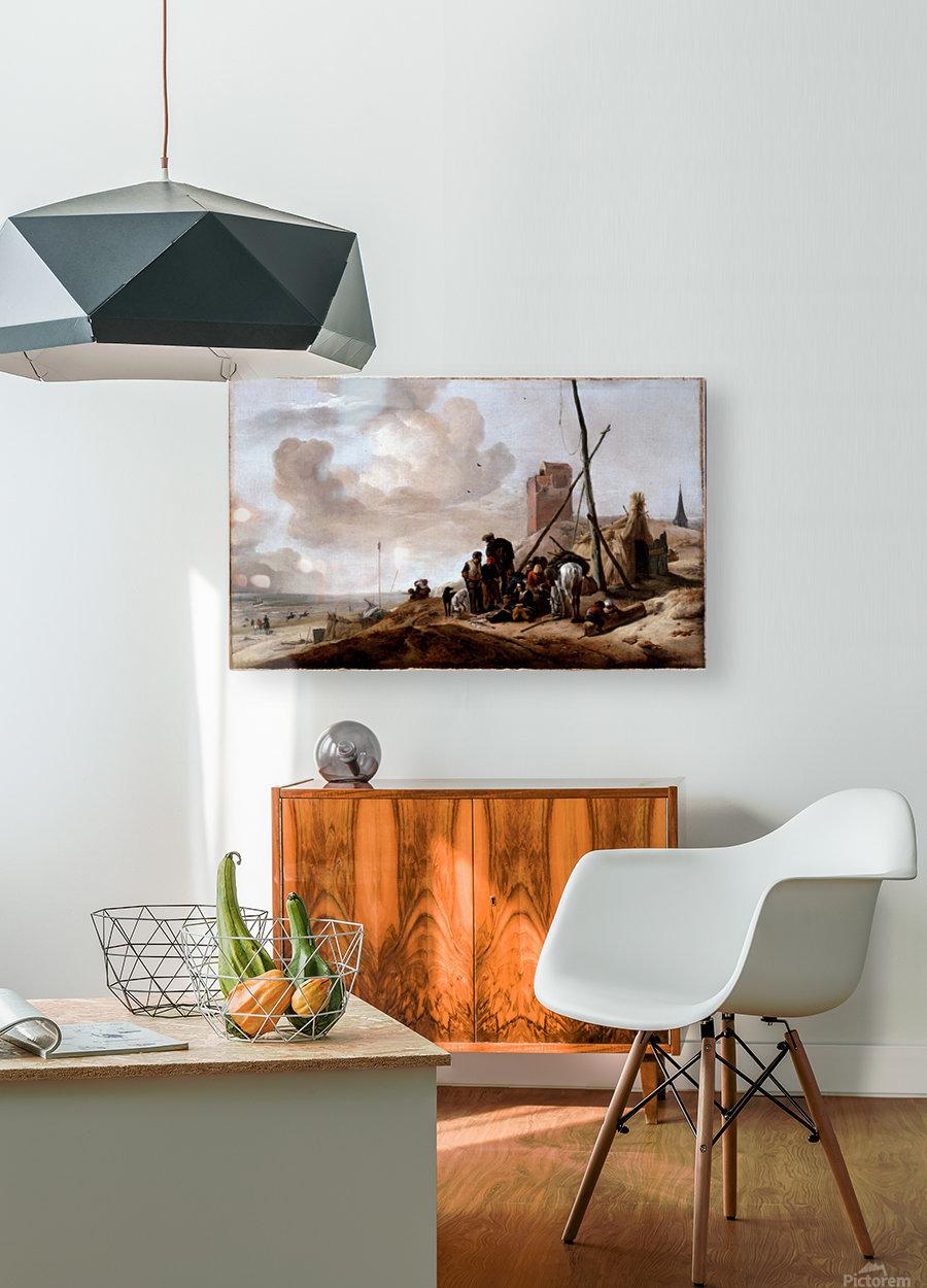 A Coastal Scene  HD Metal print with Floating Frame on Back