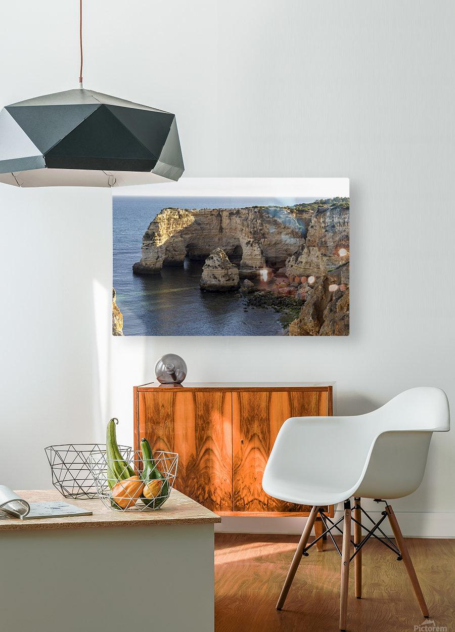 Praia de Marinha  HD Metal print with Floating Frame on Back