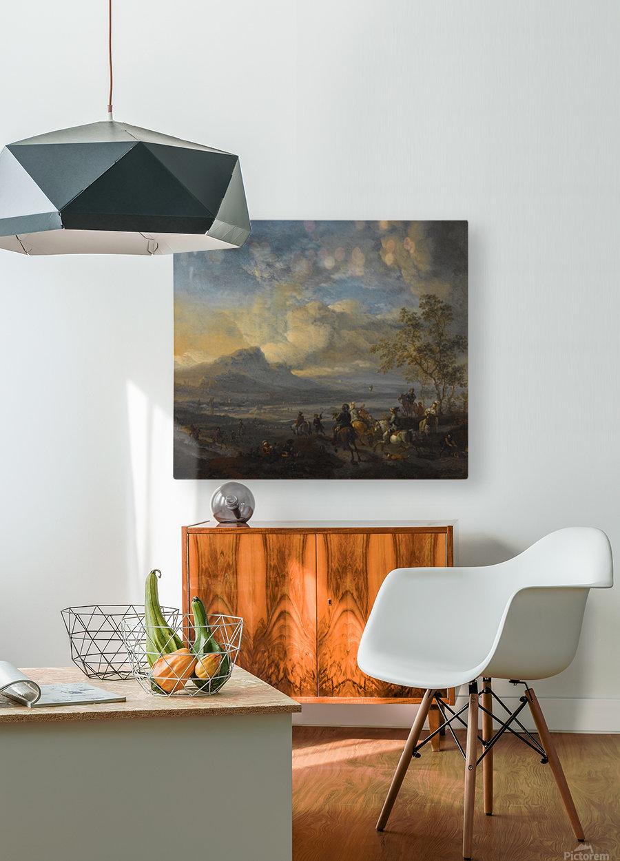 Reigerjacht  HD Metal print with Floating Frame on Back