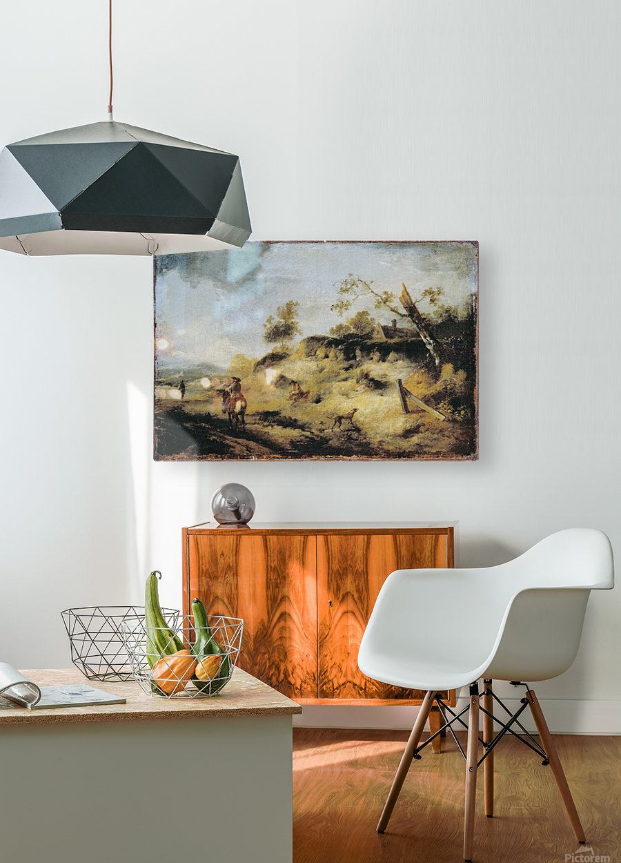 Sandbank with Travellers  HD Metal print with Floating Frame on Back