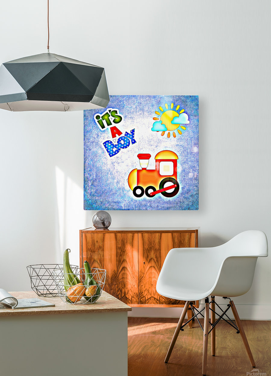 Baby Boy 1_OSG   HD Metal print with Floating Frame on Back