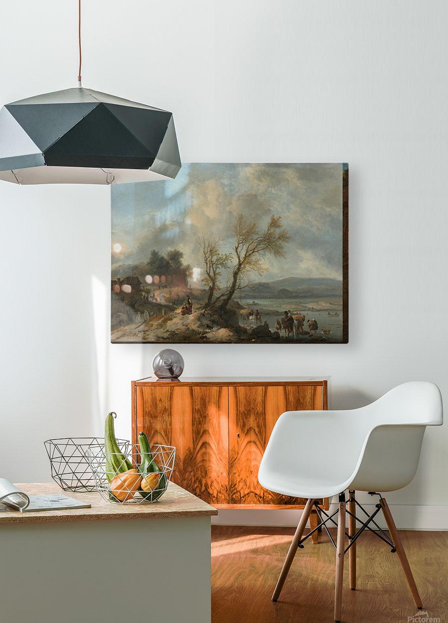 Landschap met zandweg  HD Metal print with Floating Frame on Back