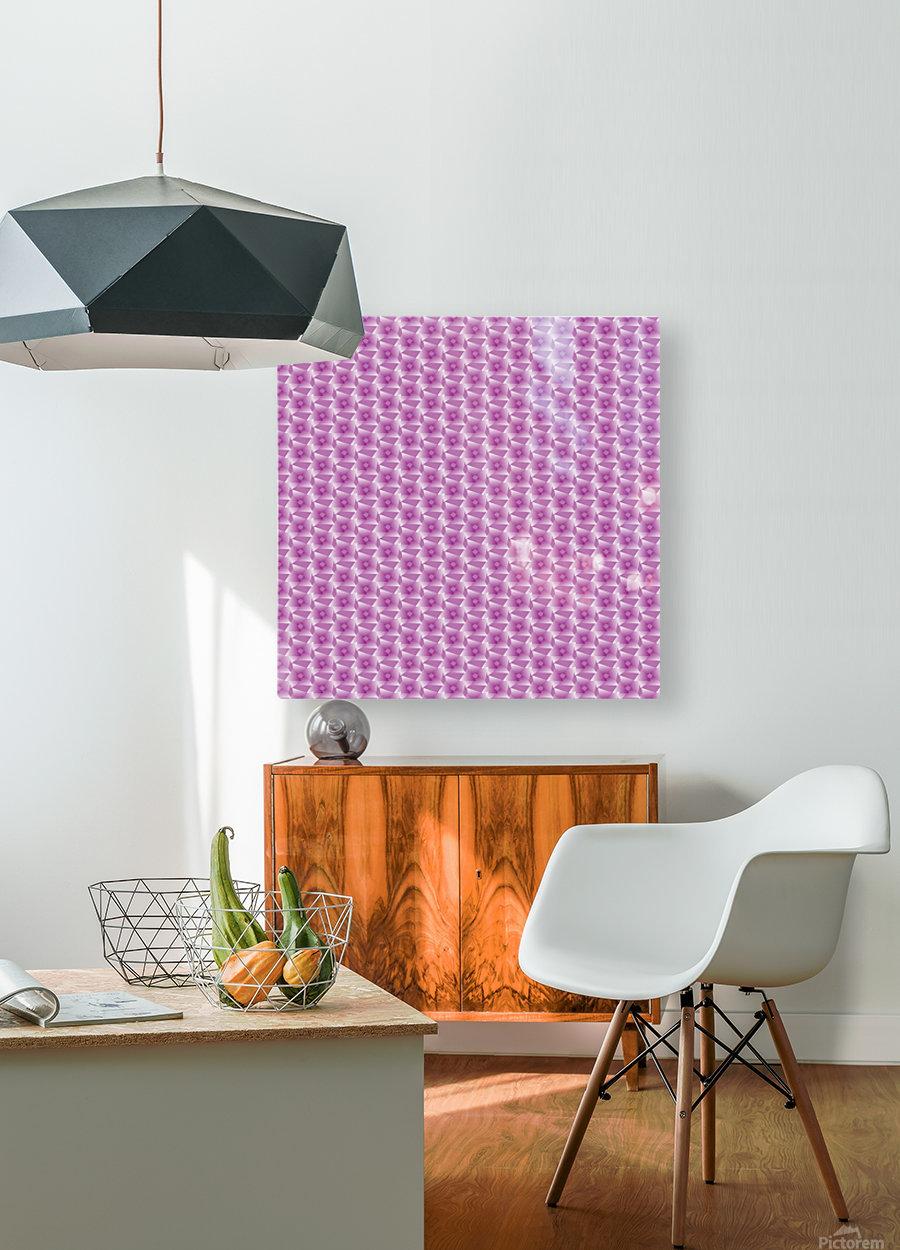 Rose Pattern Artwork  HD Metal print with Floating Frame on Back
