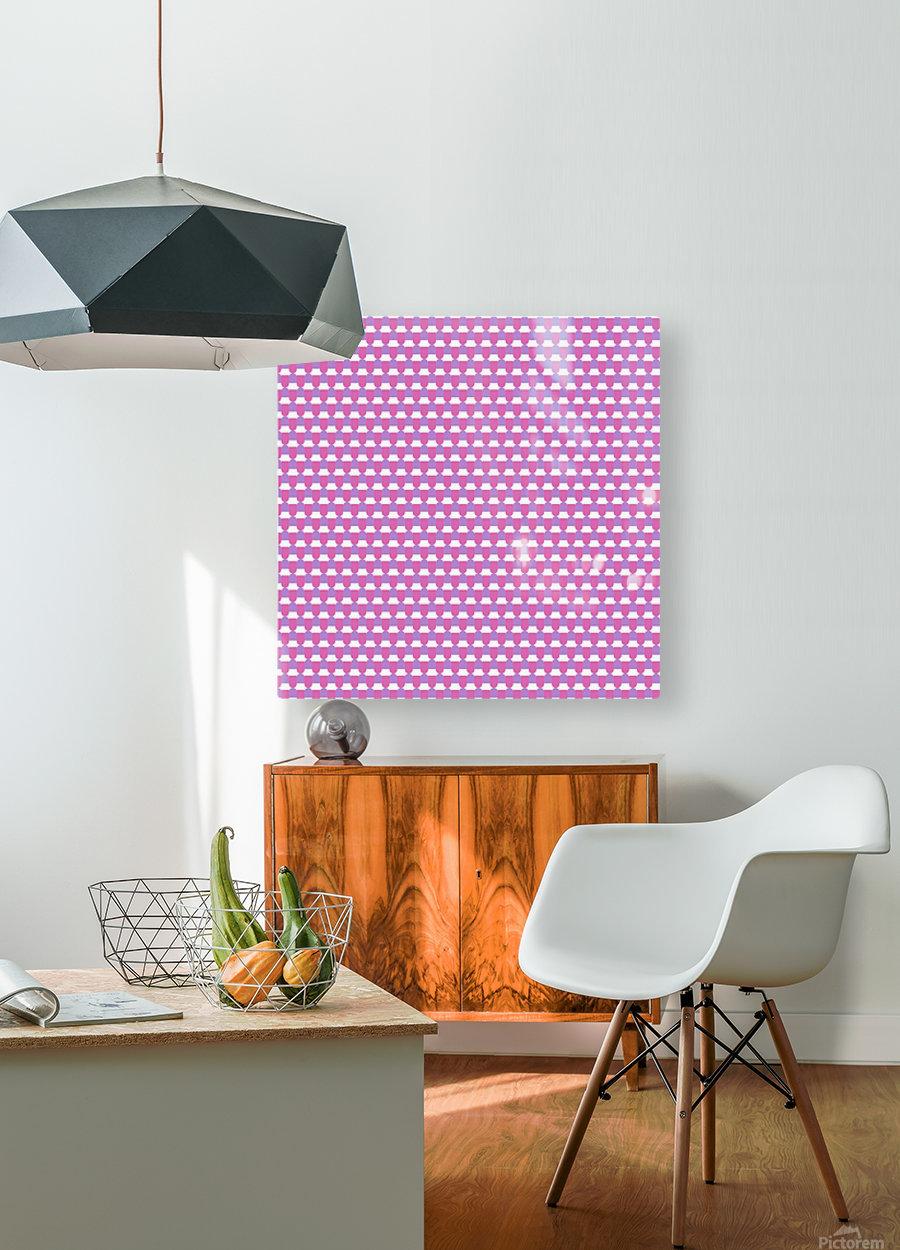 Pink Pattern Artwork  HD Metal print with Floating Frame on Back