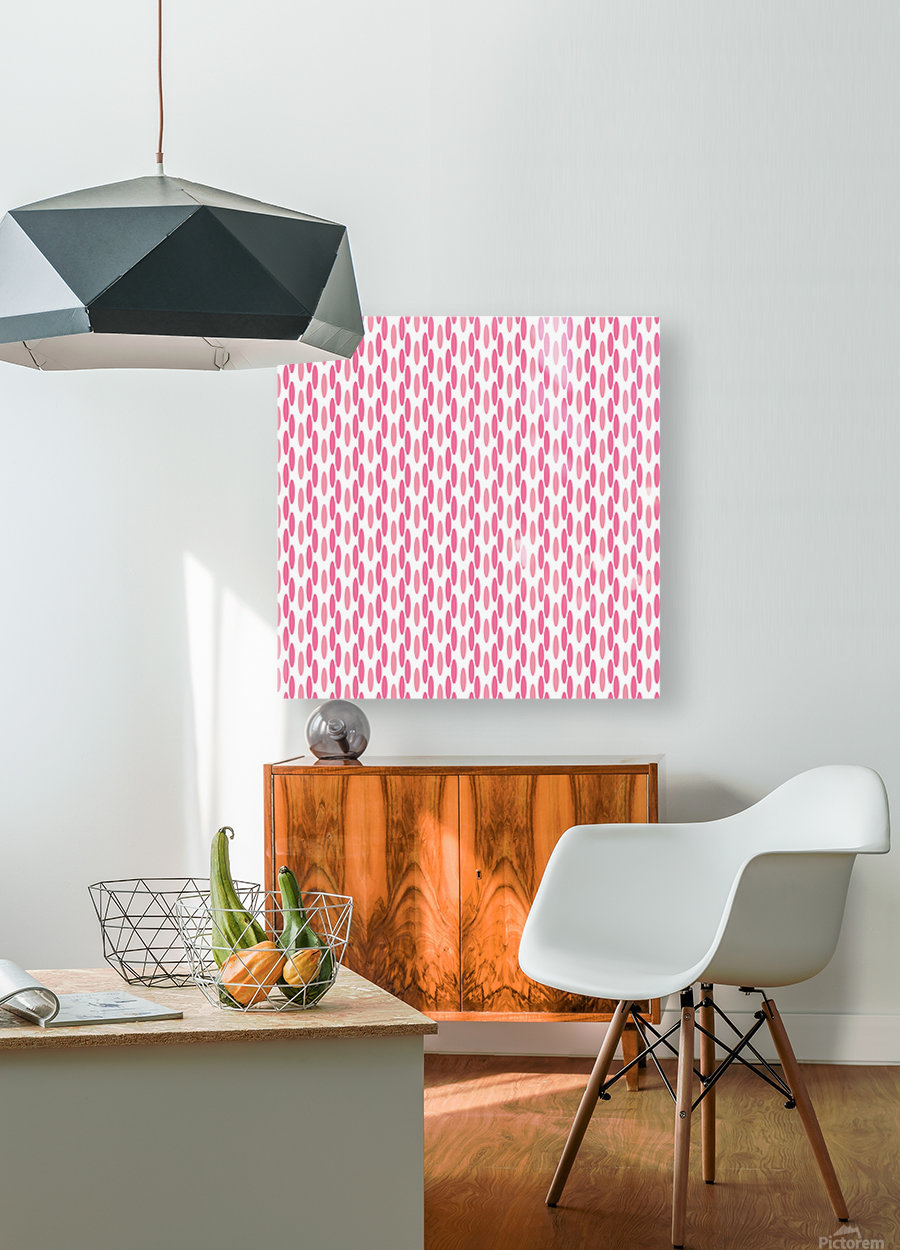 Pink Seamless Pattern Artwork  HD Metal print with Floating Frame on Back