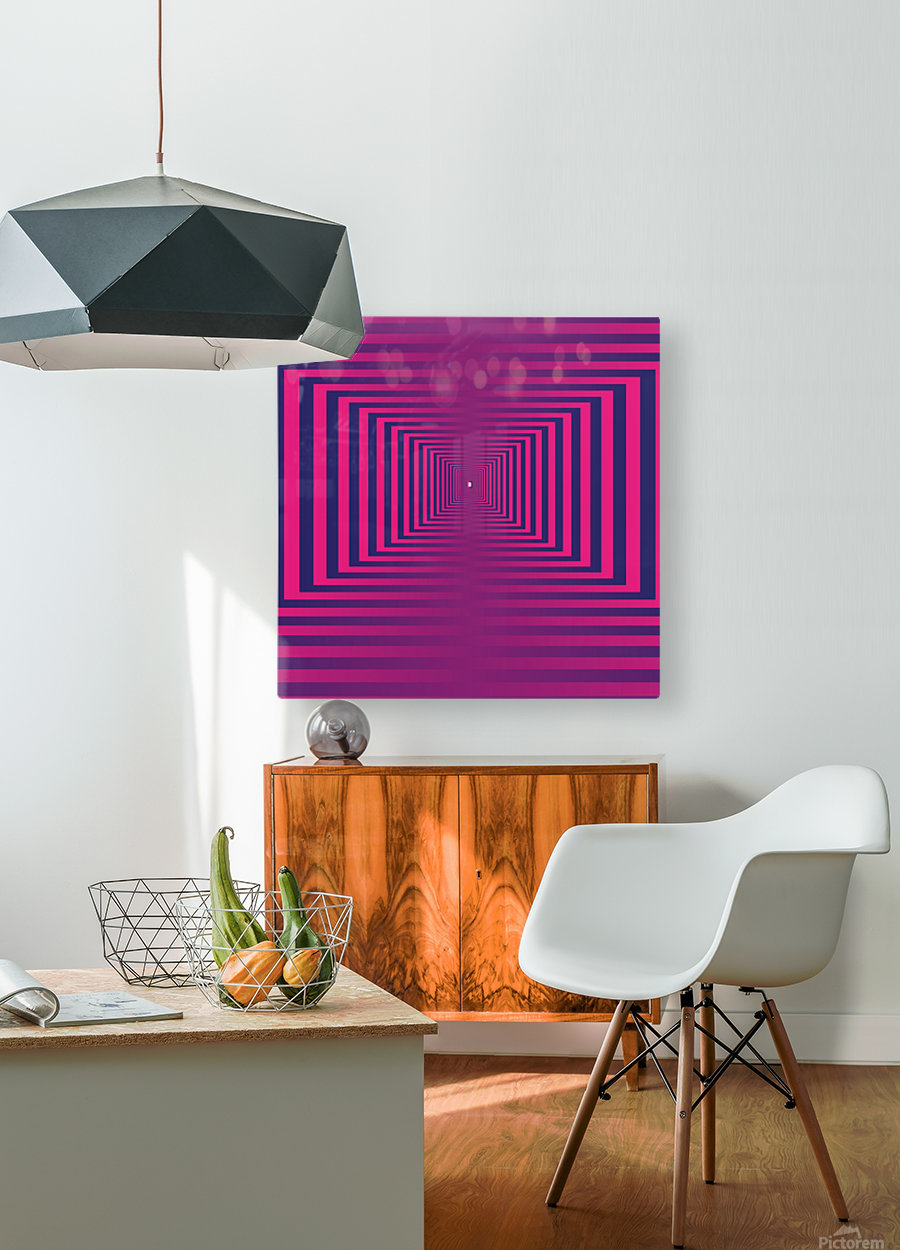 Retro  HD Metal print with Floating Frame on Back