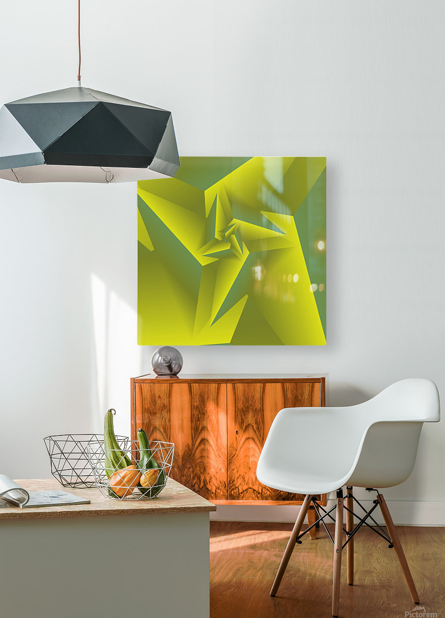 3D Triangle Pattern Art  HD Metal print with Floating Frame on Back