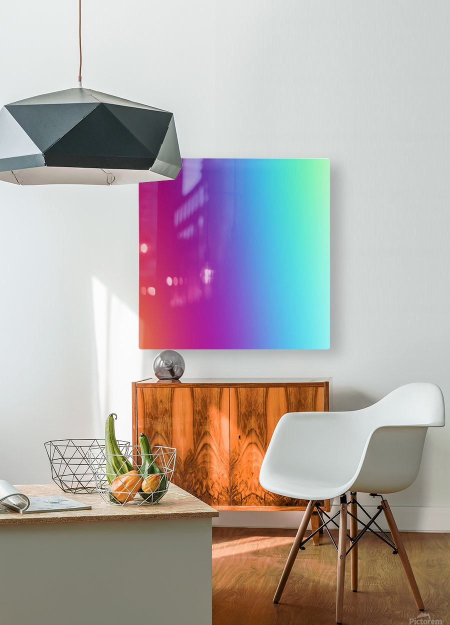 Multicolor Background  HD Metal print with Floating Frame on Back