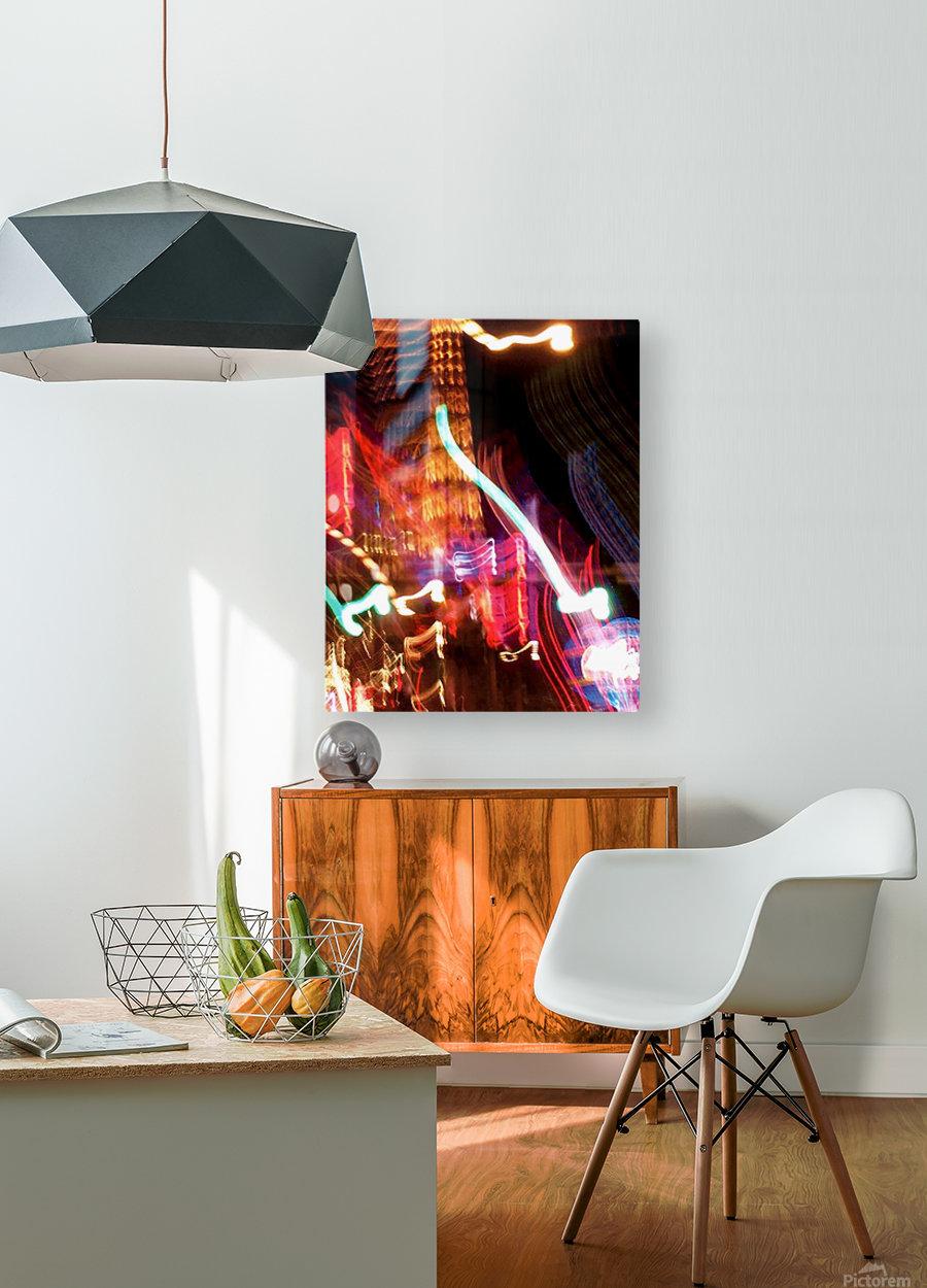 Dancing Light  HD Metal print with Floating Frame on Back