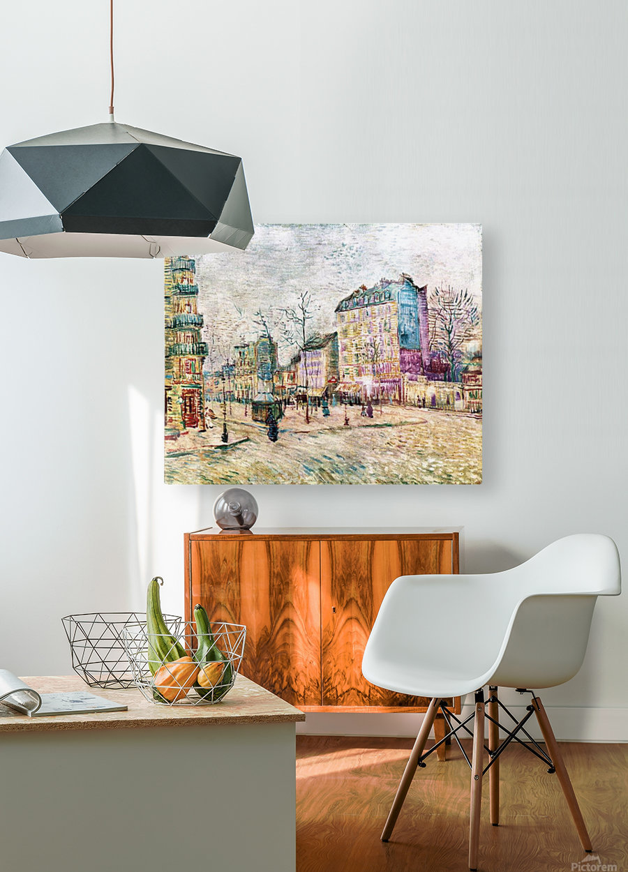 Boulevard de Clichy by Van Gogh  HD Metal print with Floating Frame on Back