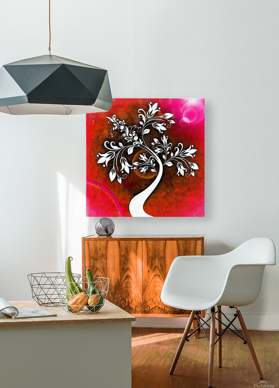 FLOWER TREE 03_OSG  HD Metal print with Floating Frame on Back