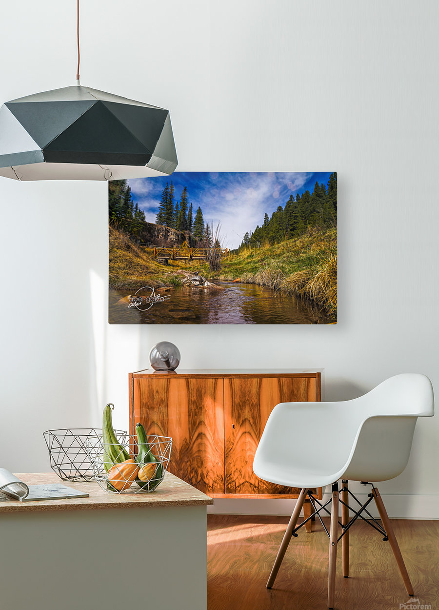 BluffSprings  HD Metal print with Floating Frame on Back