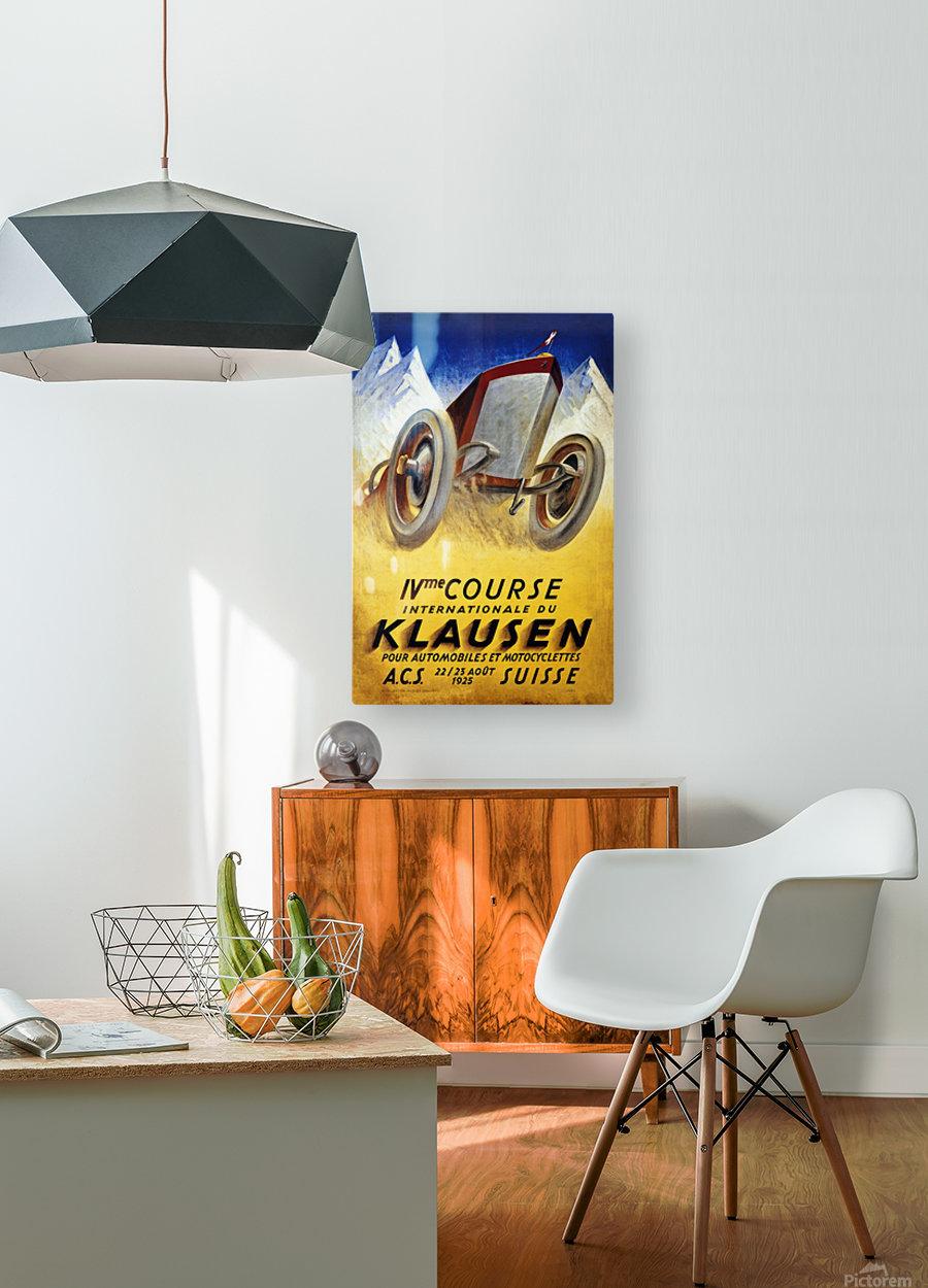 Klausen Suisse Ivme Course Internationale Acs 1925  HD Metal print with Floating Frame on Back