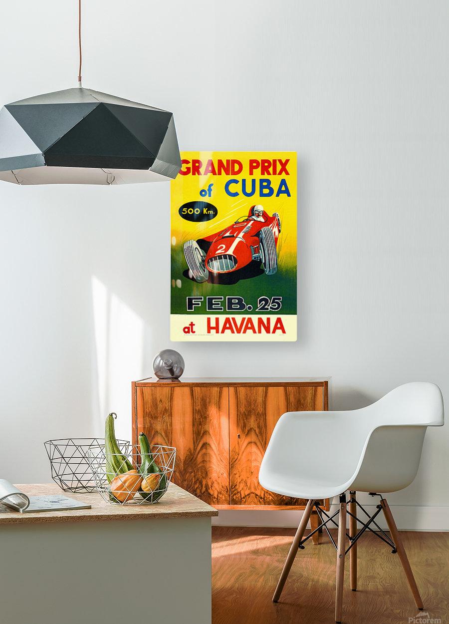 Cuba Grand Prix Havana 1958  HD Metal print with Floating Frame on Back