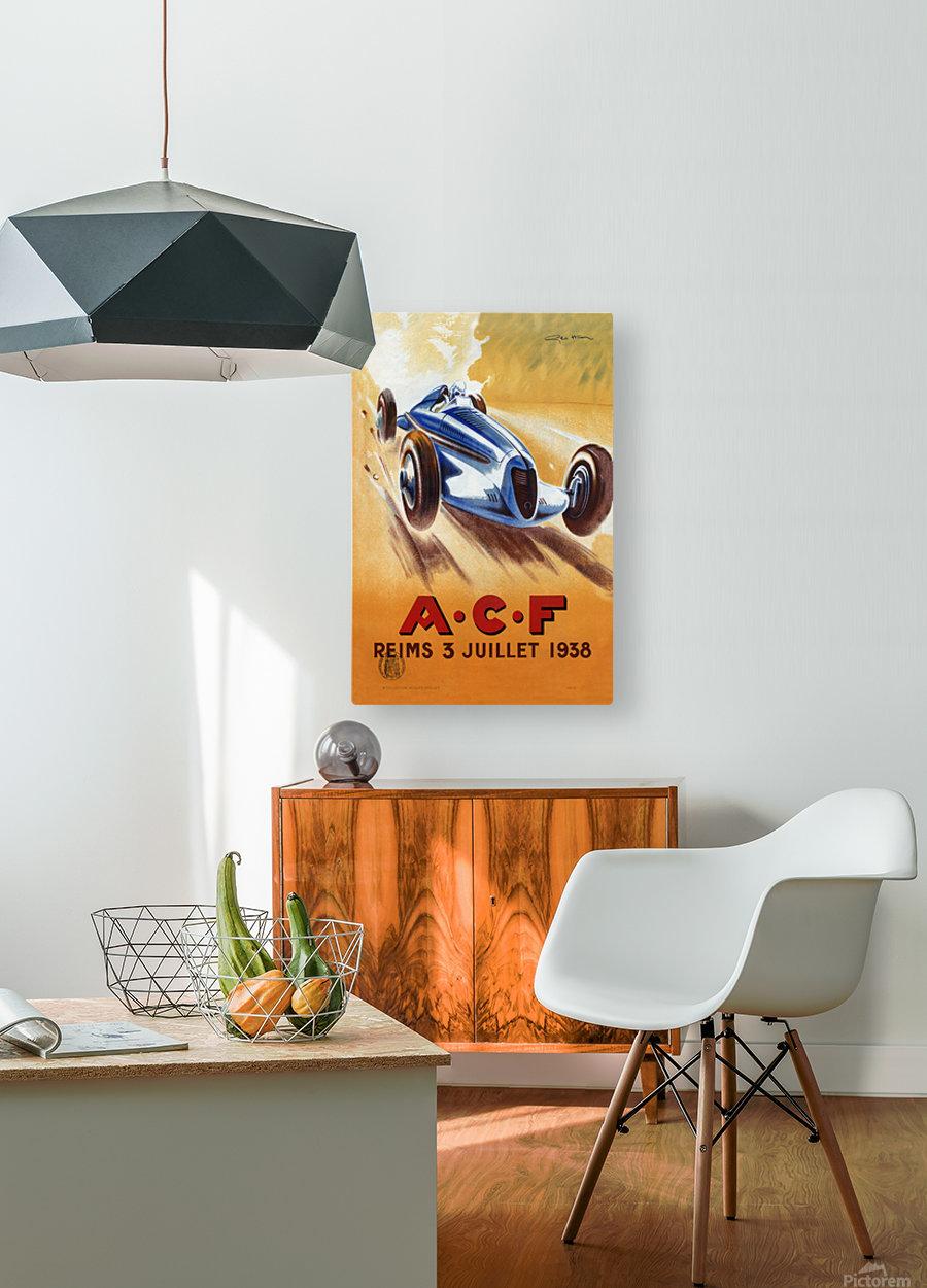 ACF Reims 3 Juillet 1938  HD Metal print with Floating Frame on Back