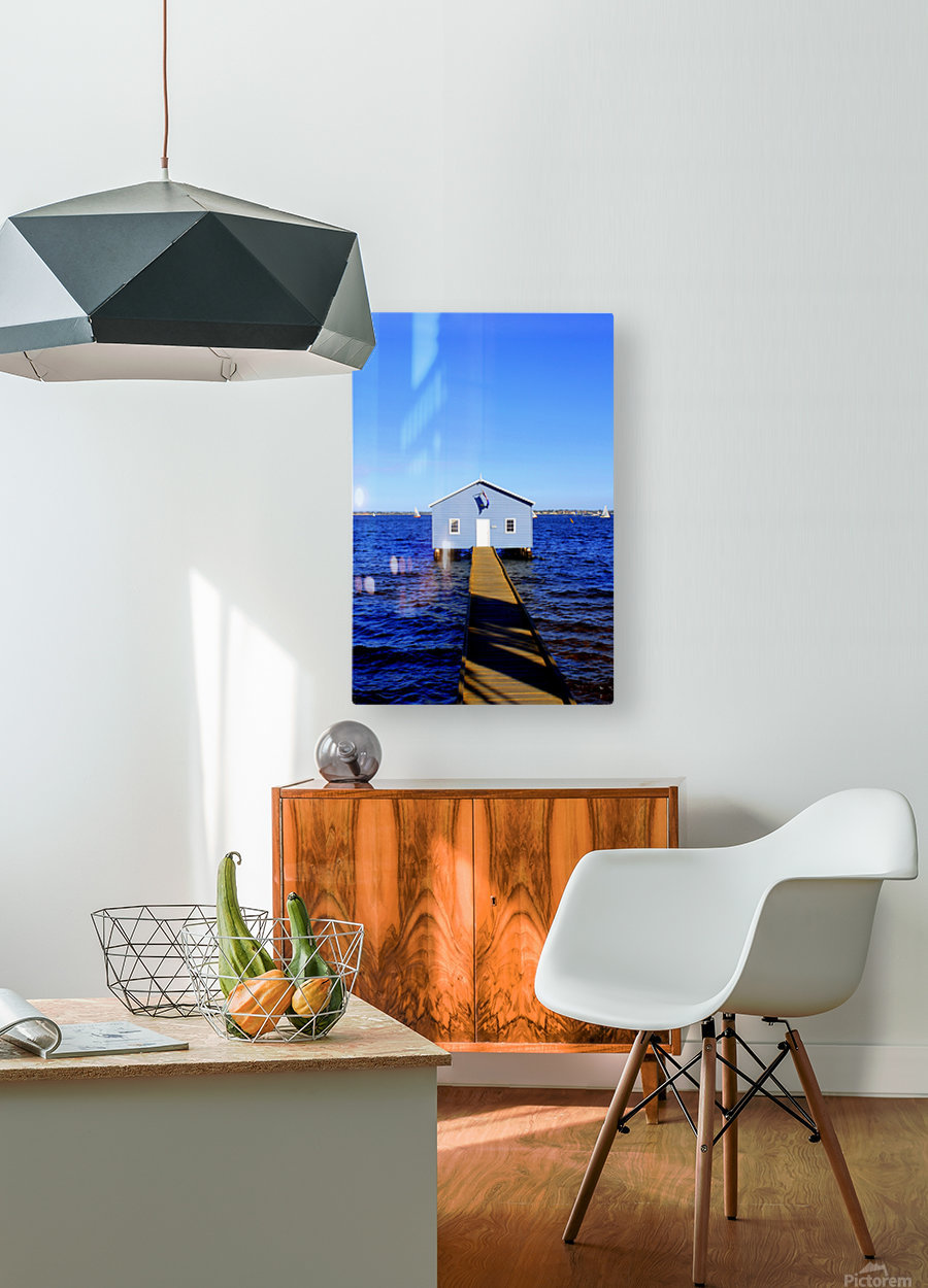 P E R T H - Australia  HD Metal print with Floating Frame on Back
