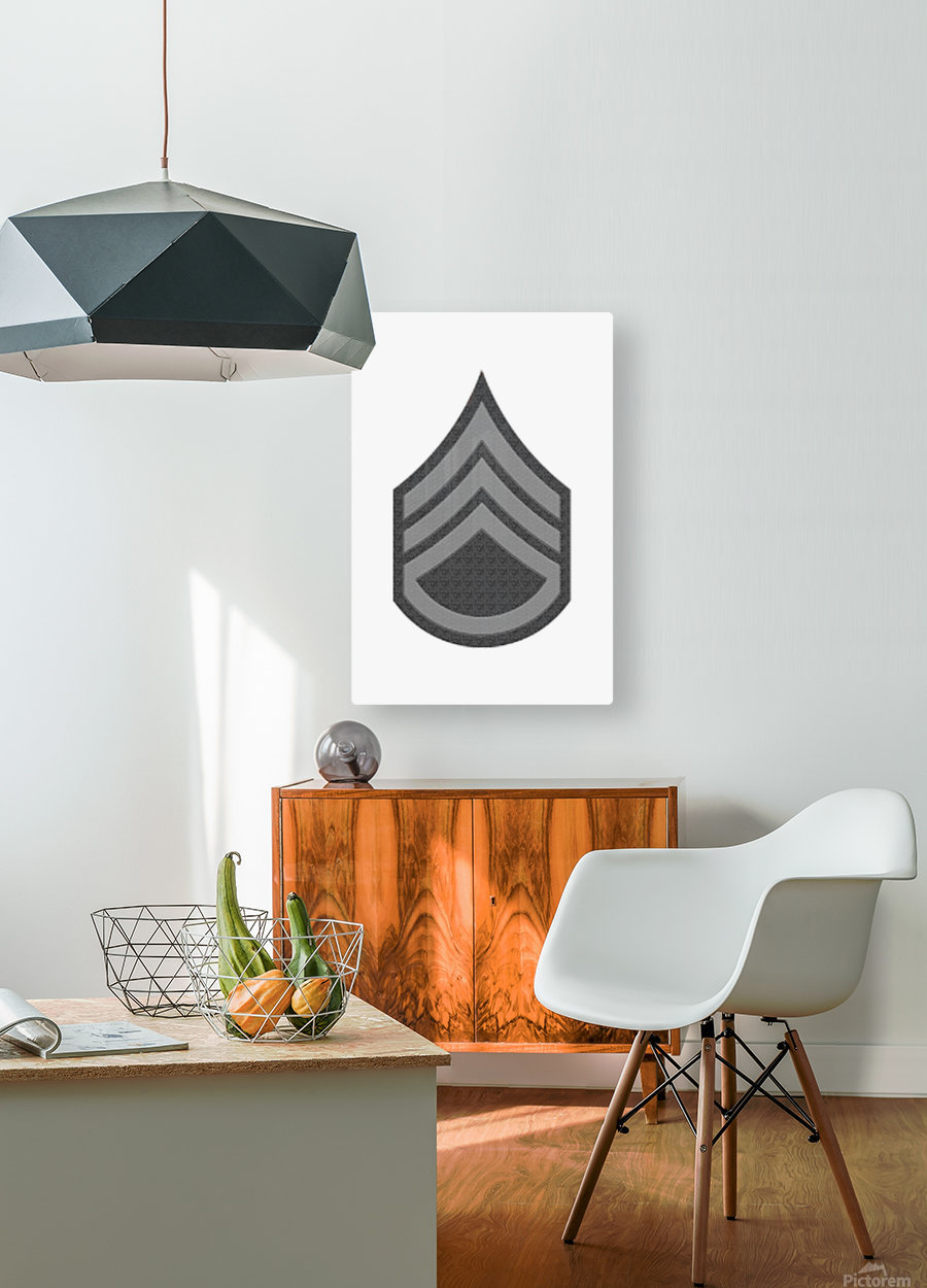 Staff Sergeant  HD Metal print with Floating Frame on Back