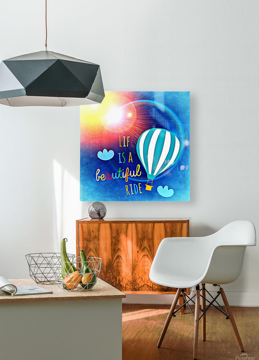 Beautiful Life 01_OSG  Impression métal HD avec cadre flottant sur le dos