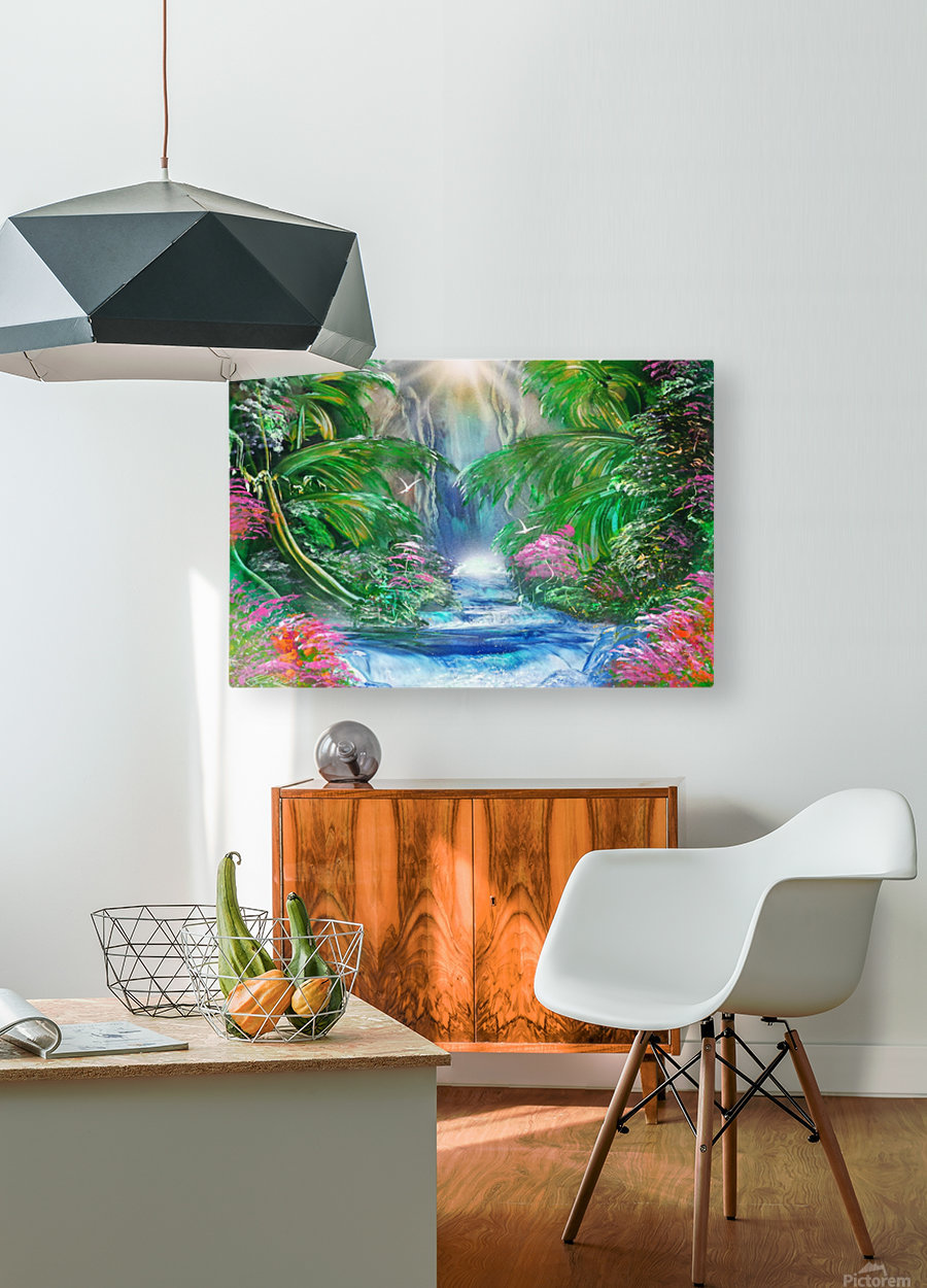 Jungle   HD Metal print with Floating Frame on Back