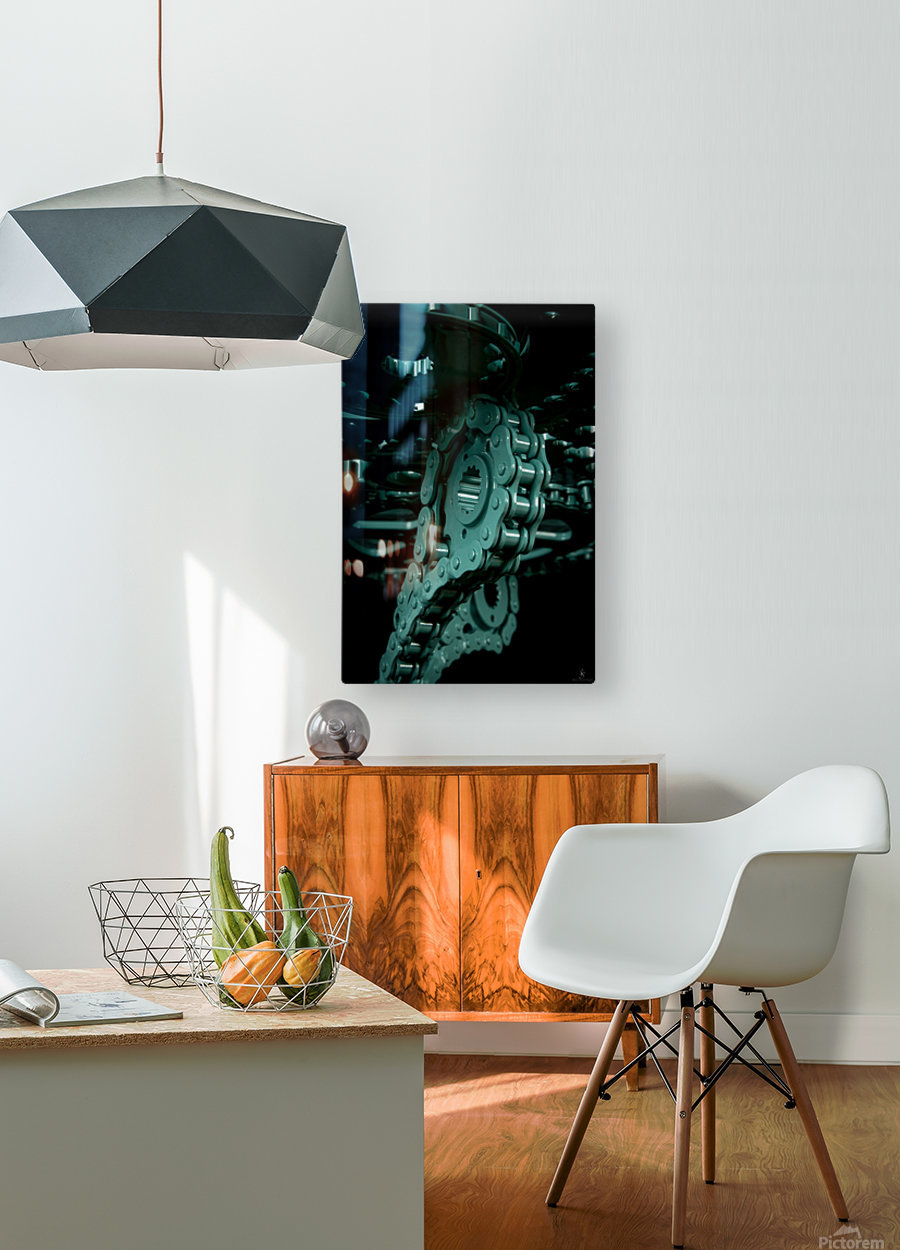 Tiffany chain  HD Metal print with Floating Frame on Back