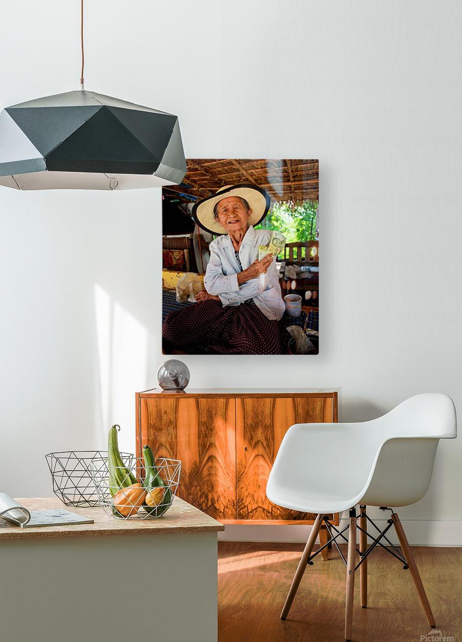 Thai Grandma  HD Metal print with Floating Frame on Back