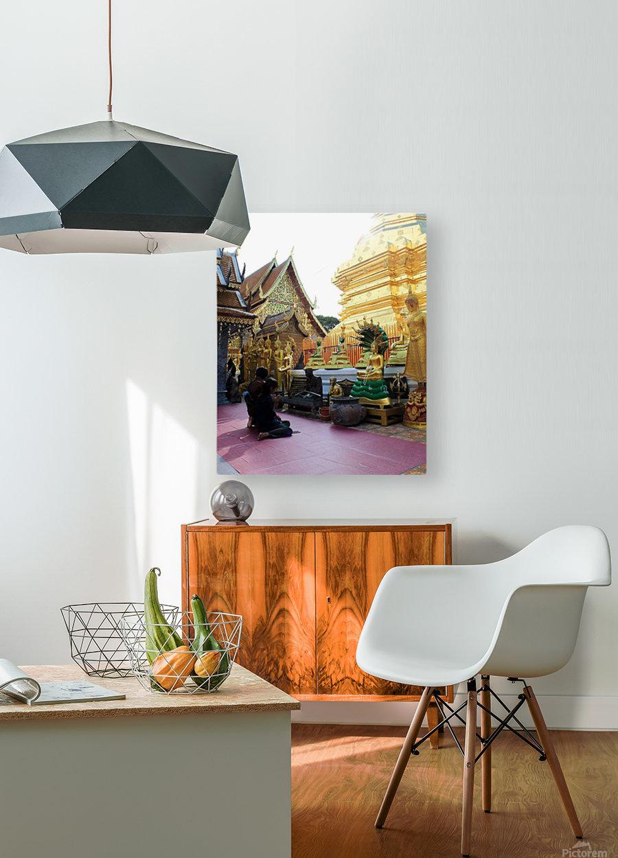 Praying at Doi Suthep  HD Metal print with Floating Frame on Back