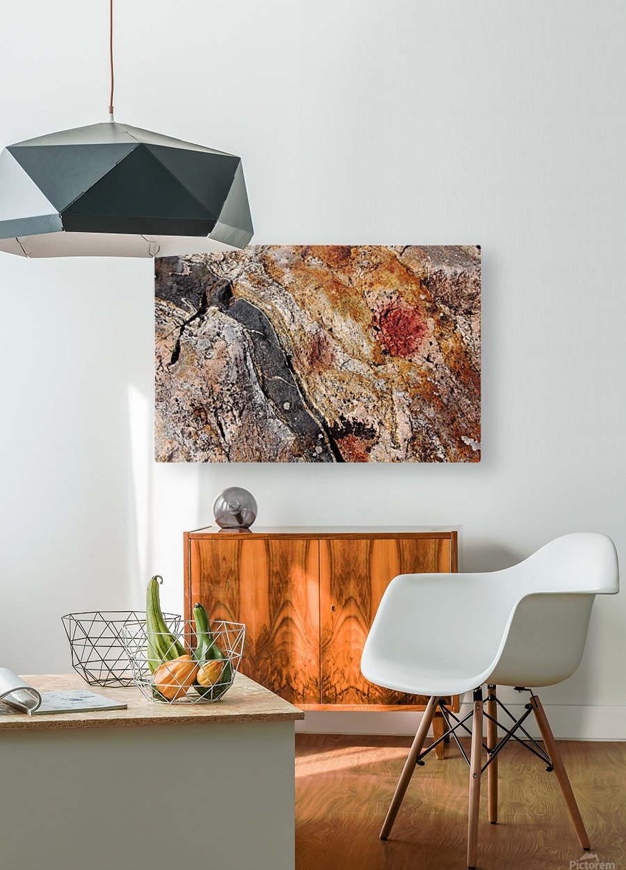 Colors Of Rock  HD Metal print with Floating Frame on Back