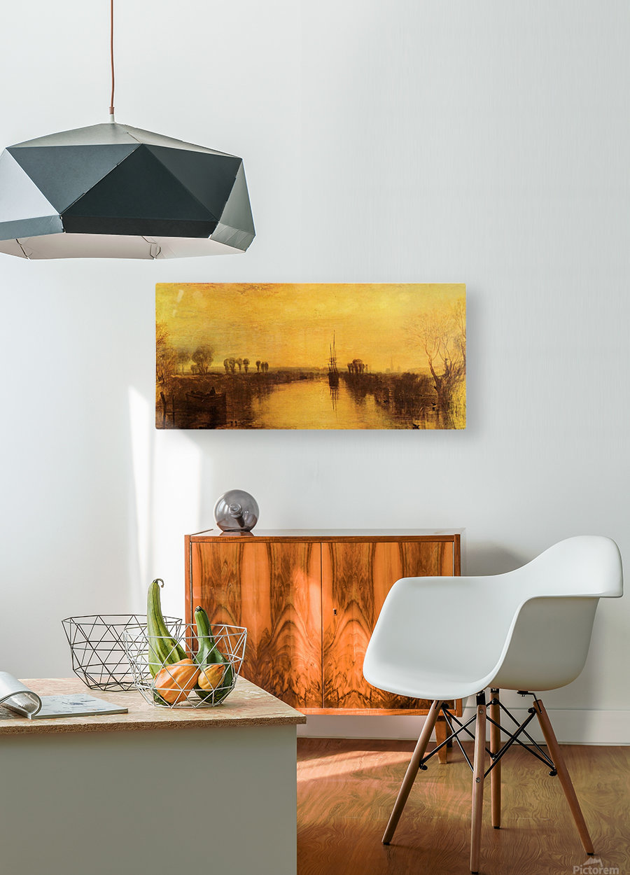Chichester Canal by Joseph Mallord Turner  HD Metal print with Floating Frame on Back