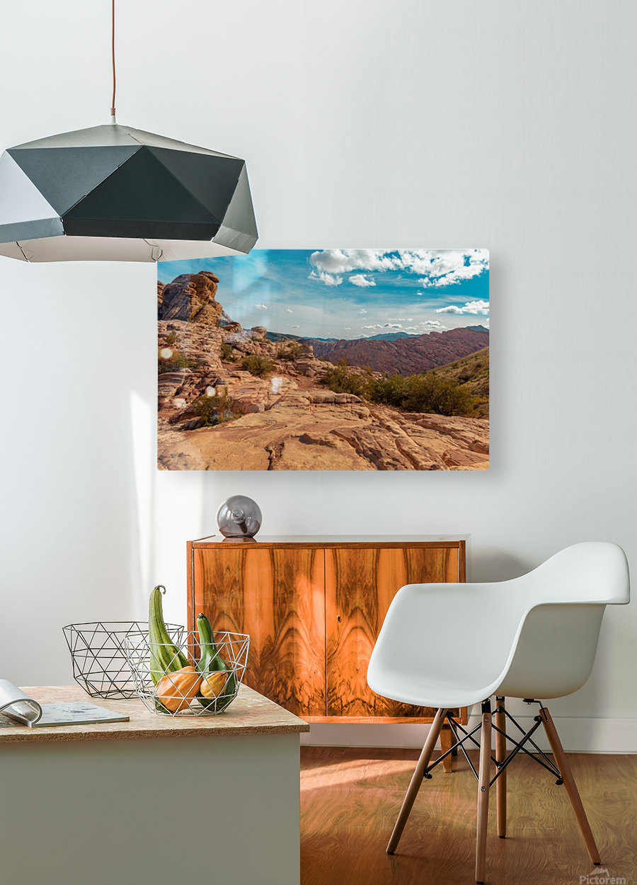 On Top Of The World  HD Metal print with Floating Frame on Back
