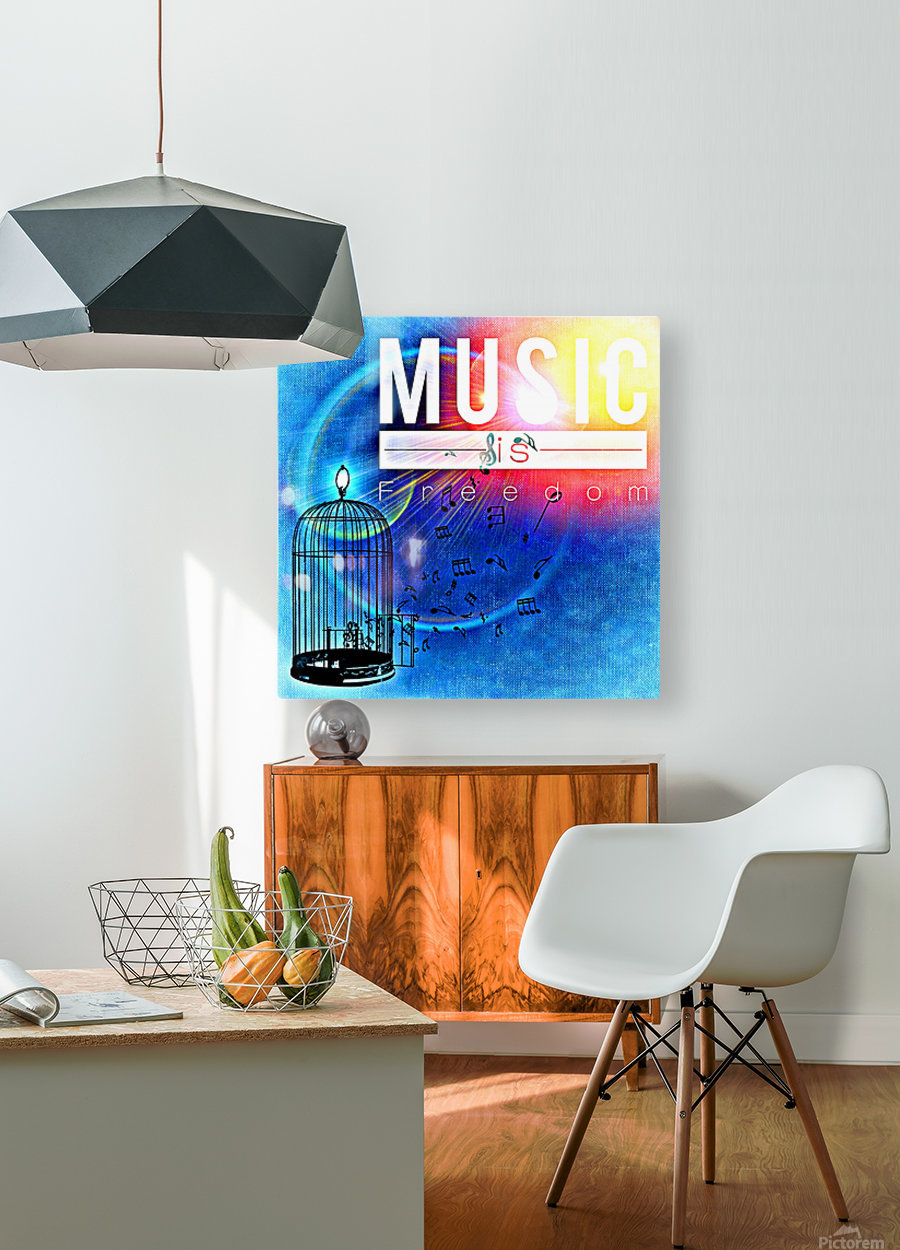 Music_OSG  HD Metal print with Floating Frame on Back