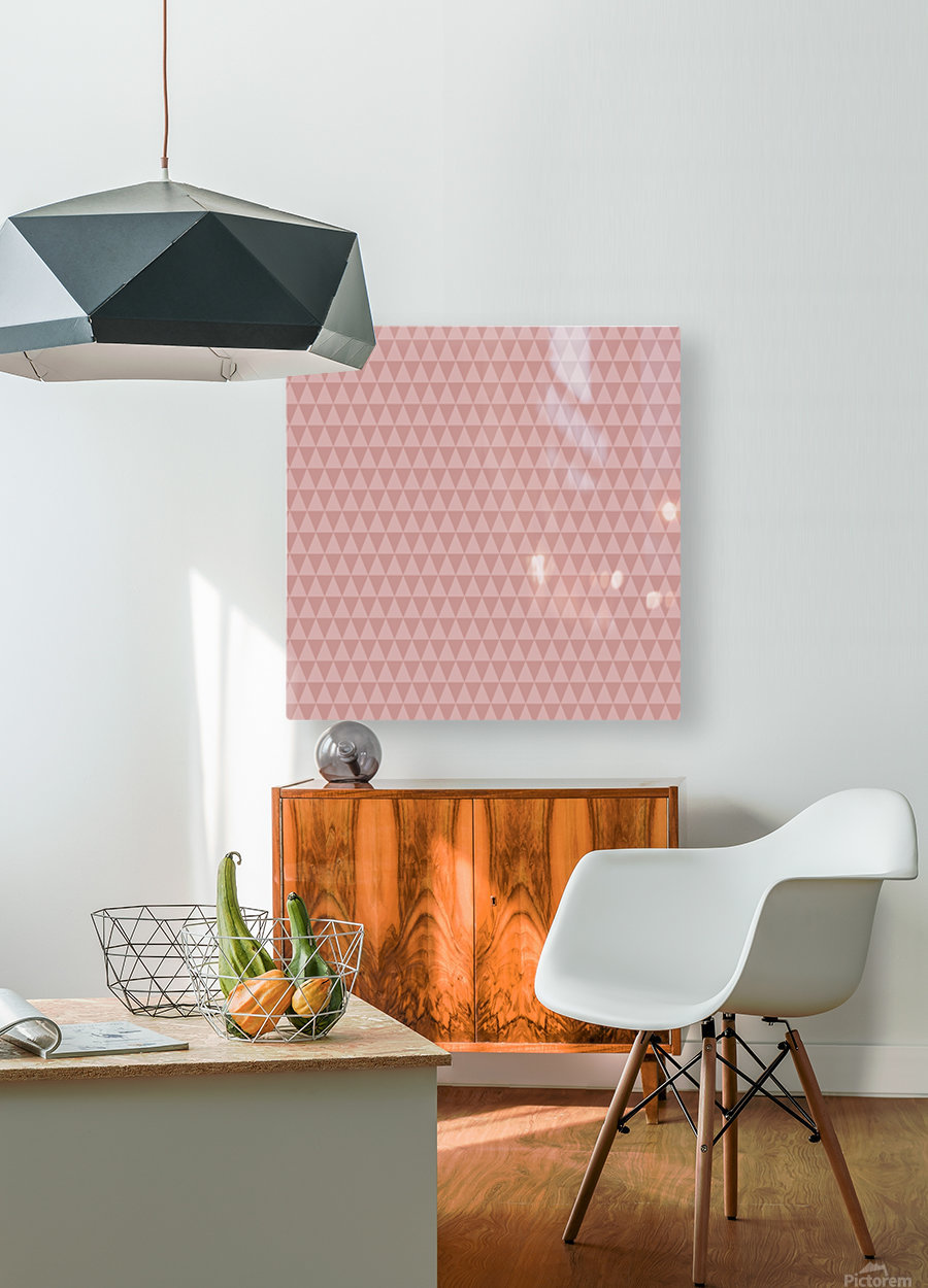 ORANGE Triangle Shape Seamless Pattern Background     HD Metal print with Floating Frame on Back