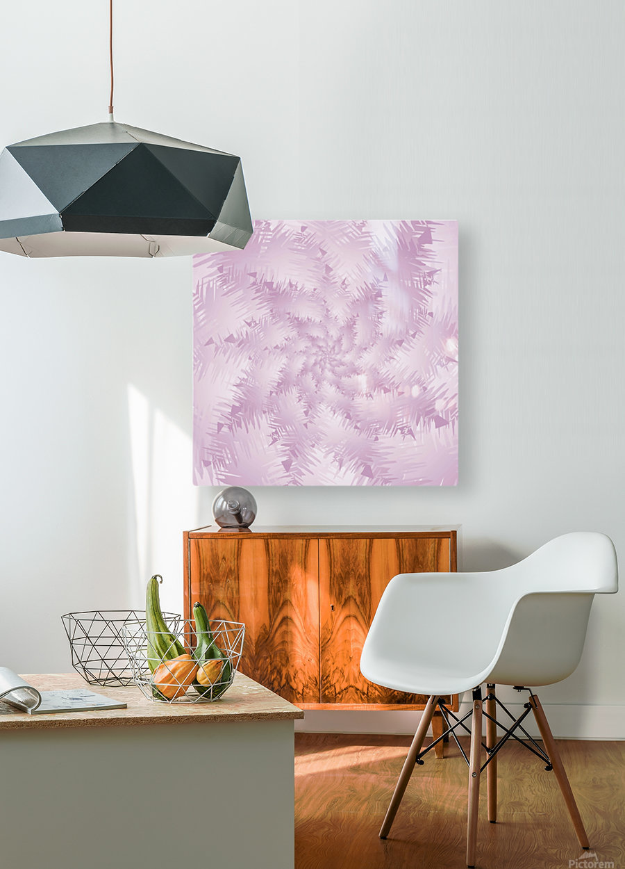 Pink Snowflakes Forest  HD Metal print with Floating Frame on Back