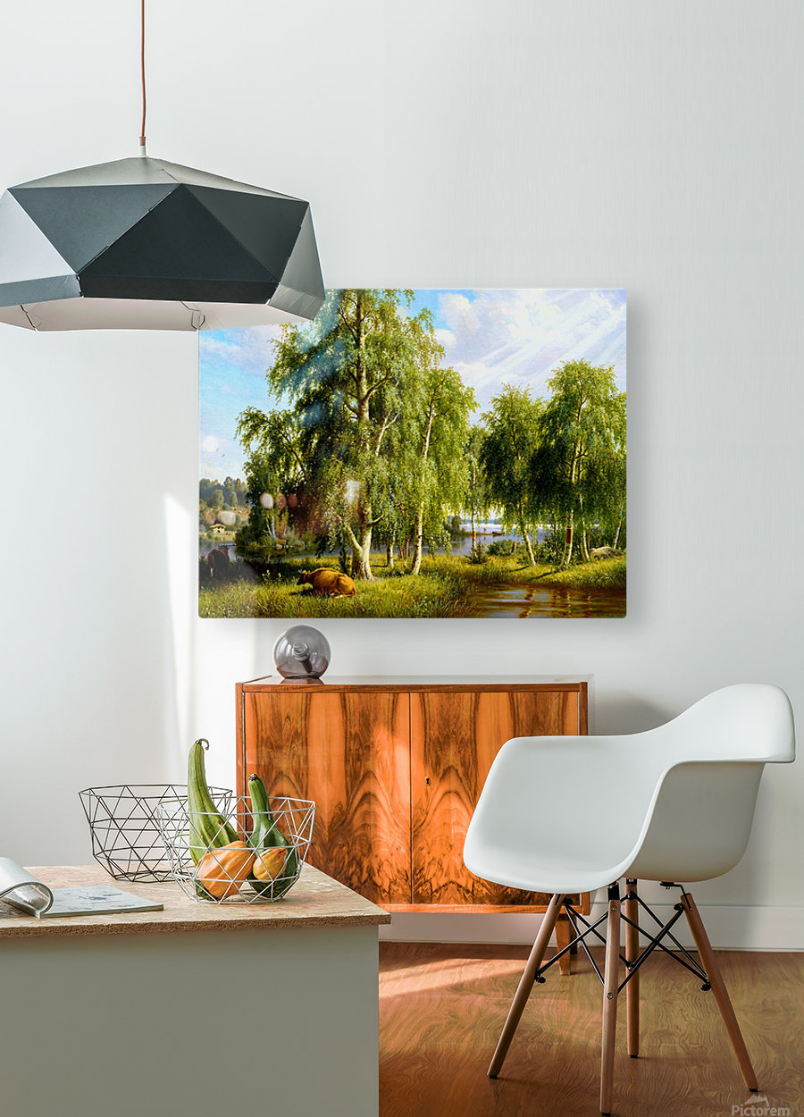 Beautiful Summer Day In The Farm_OSG  HD Metal print with Floating Frame on Back