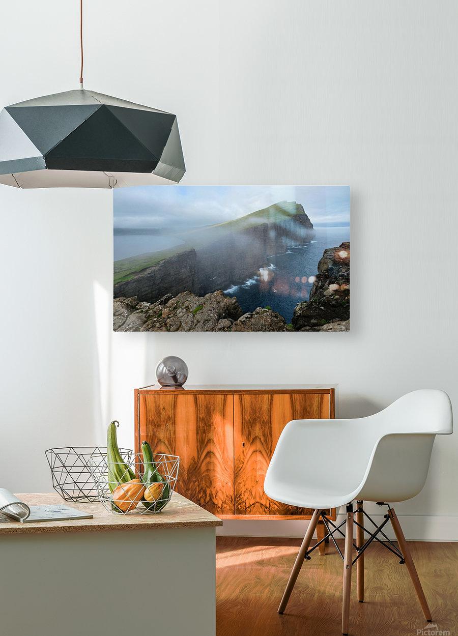 Faroe Cliffs  HD Metal print with Floating Frame on Back