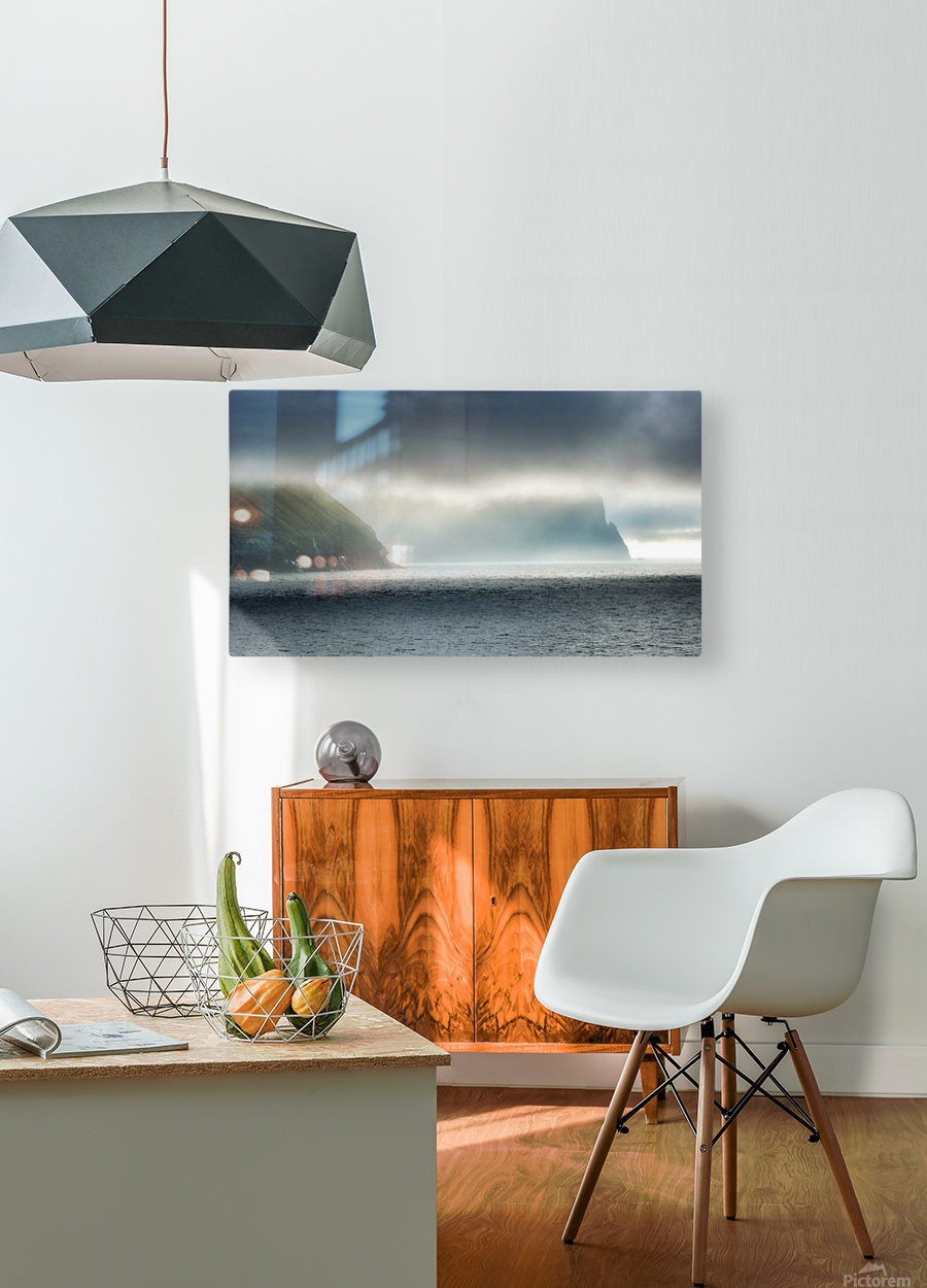 Sea meets sky  HD Metal print with Floating Frame on Back